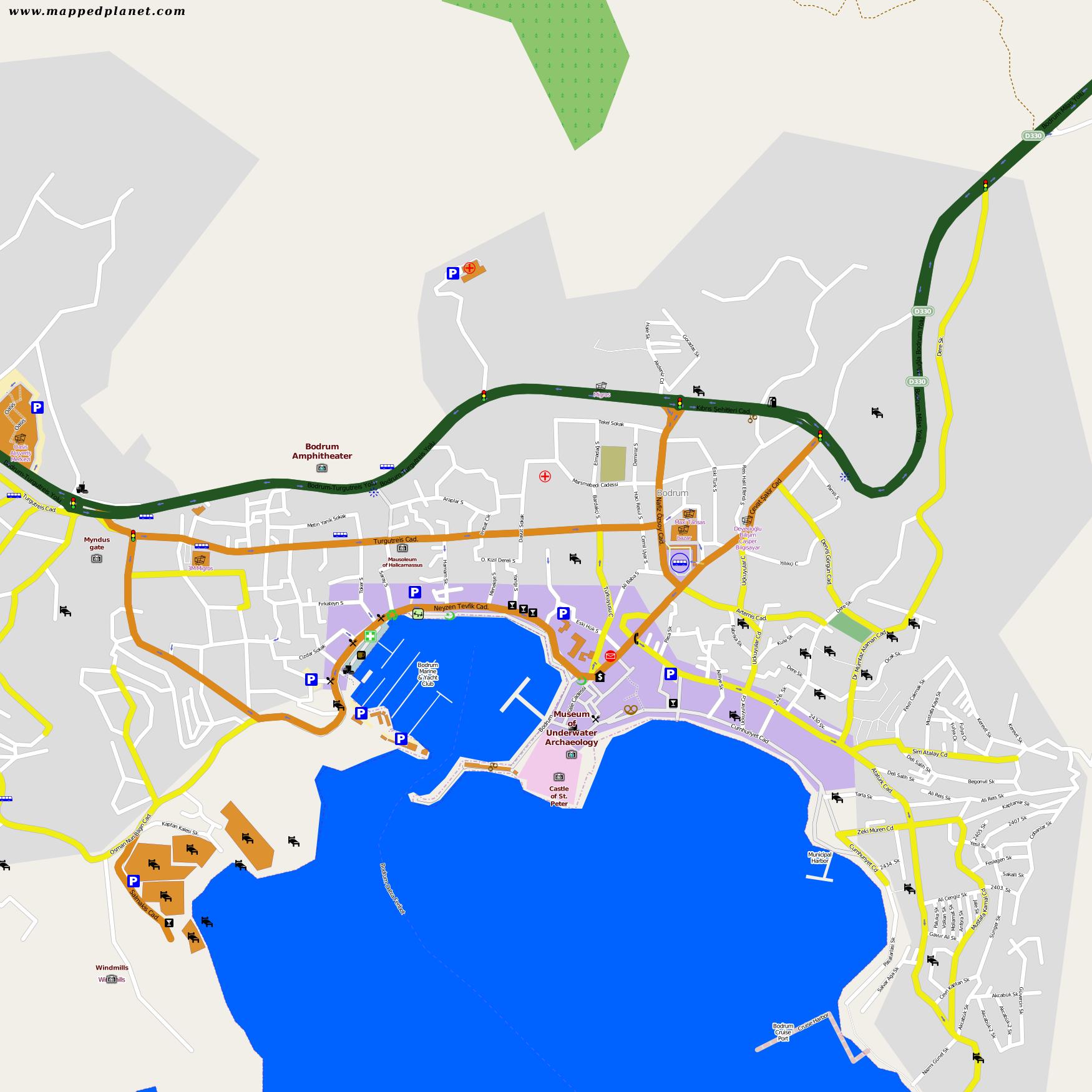 Bodrum Karte.Karten Und Stadtpläne Bodrum