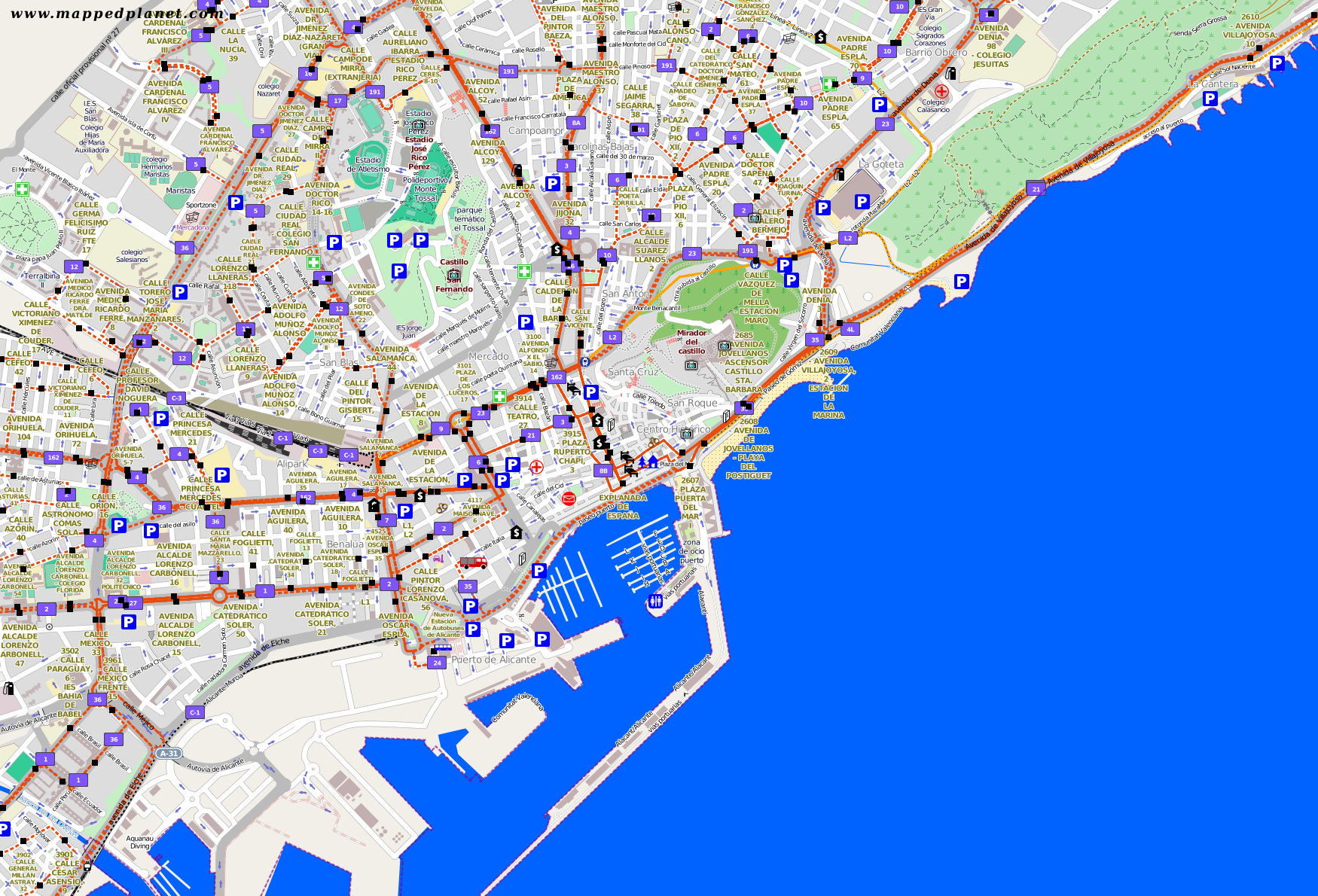 City maps Alicante