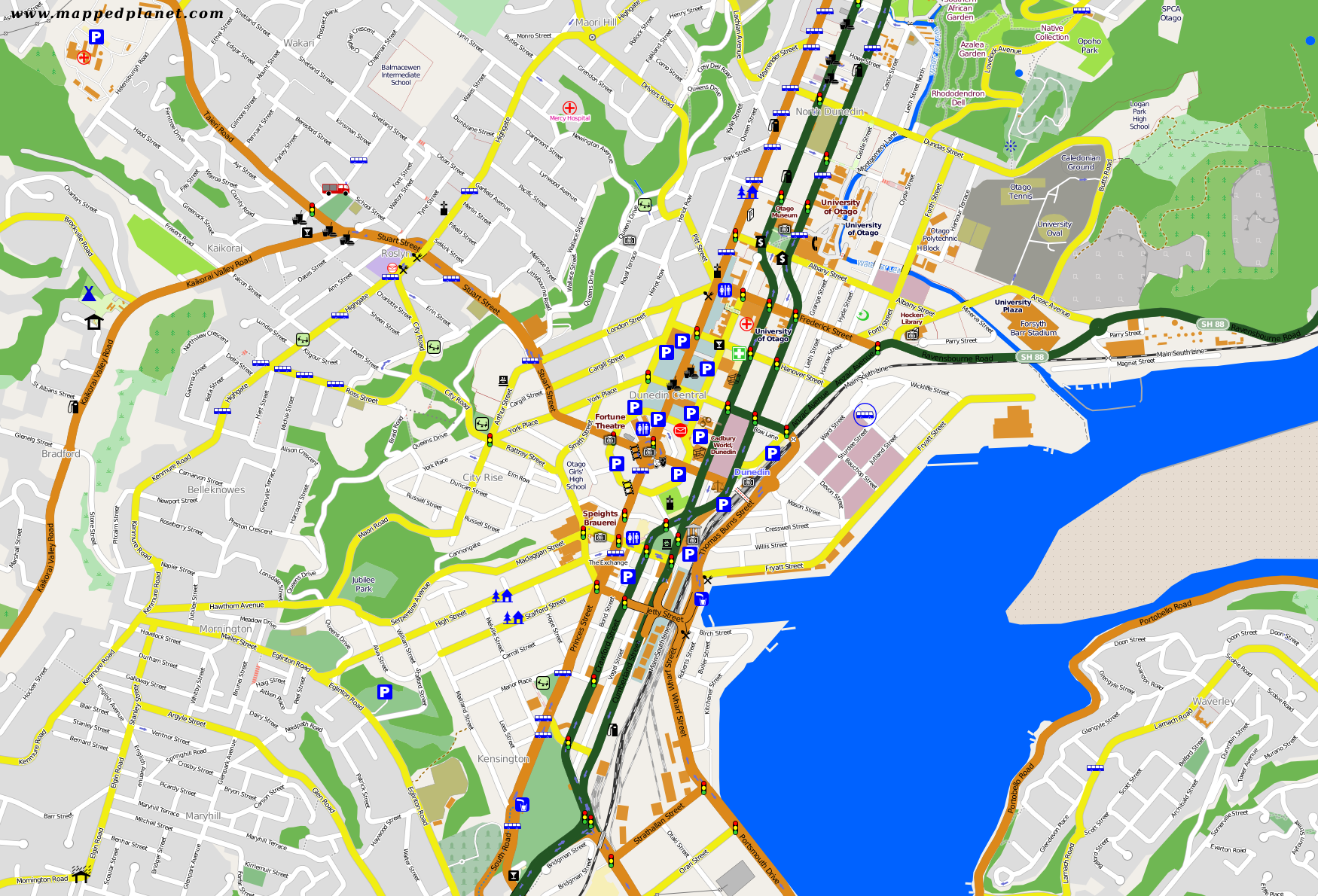 City maps Dunedin