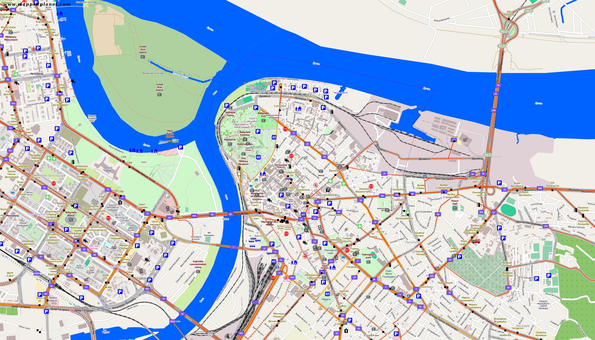 city maps belgrade