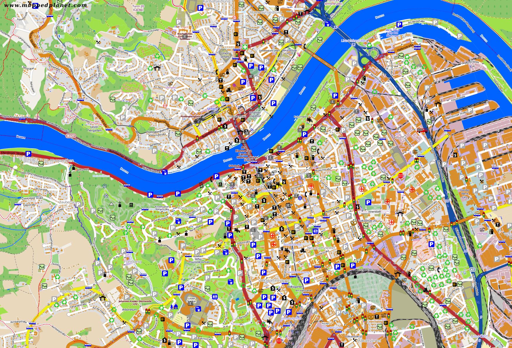 City maps Linz