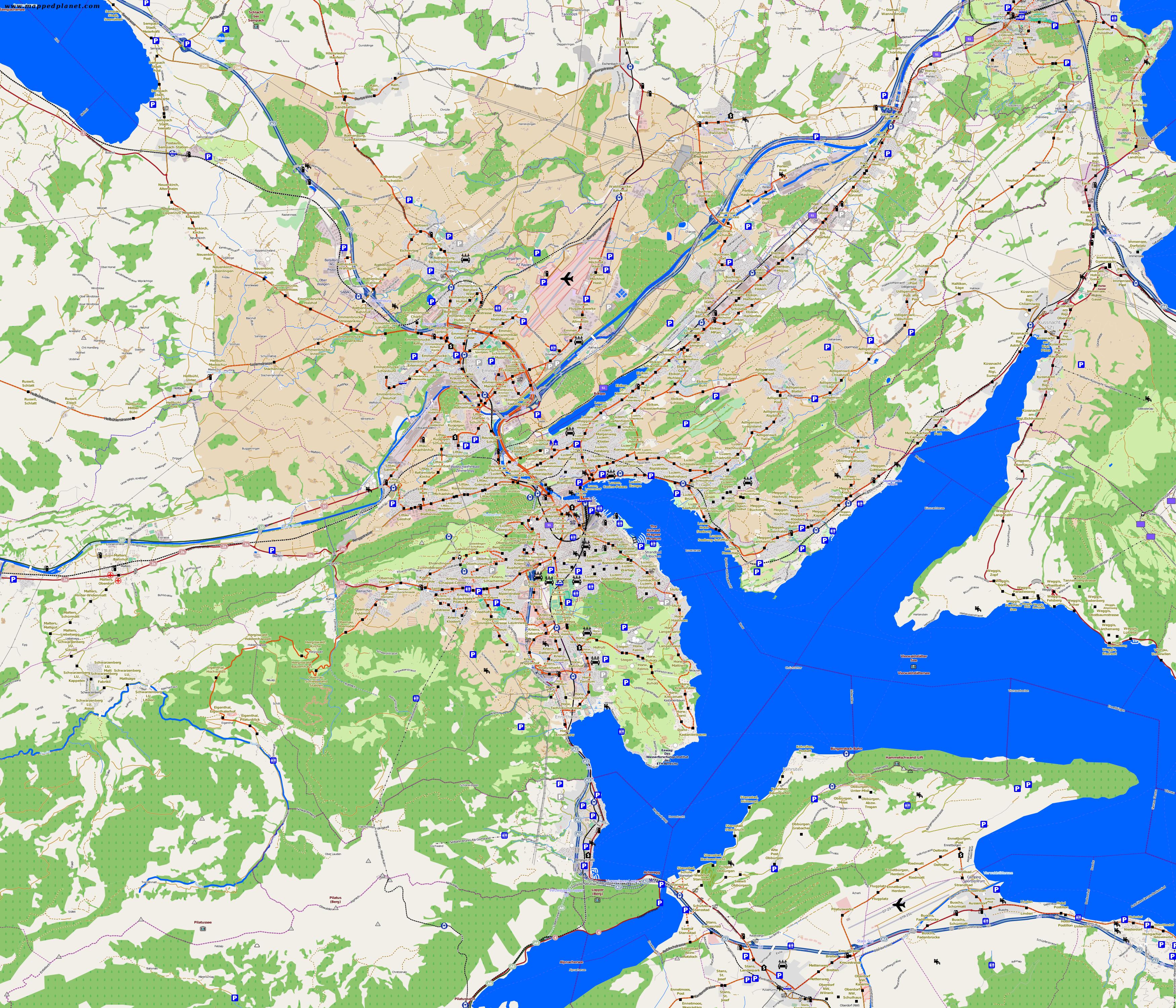 City maps Lucerne