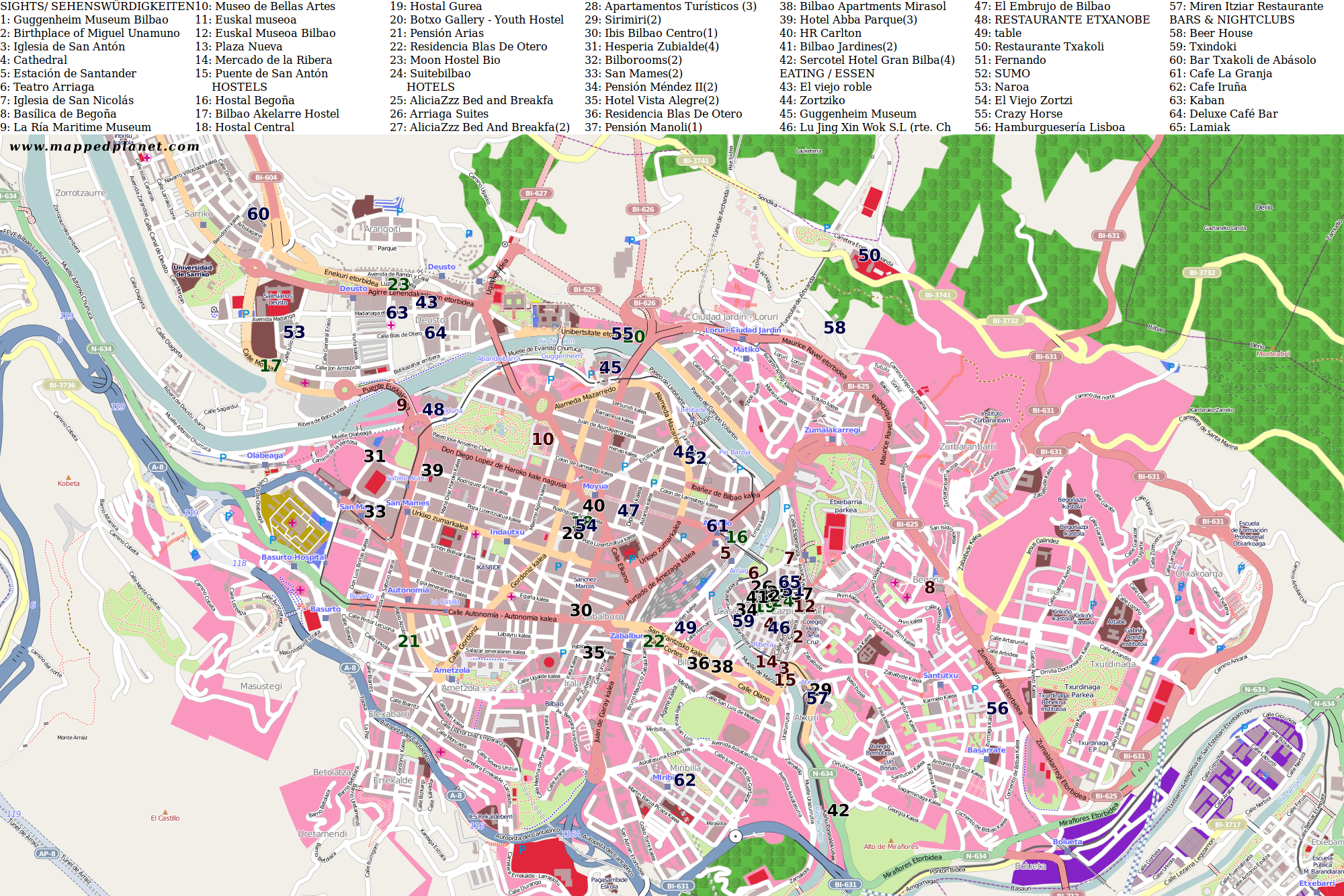 City maps Bilbao