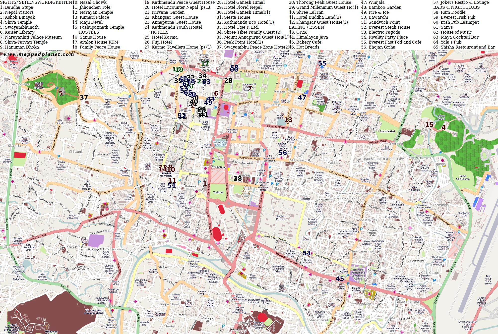 City maps Kathmandu
