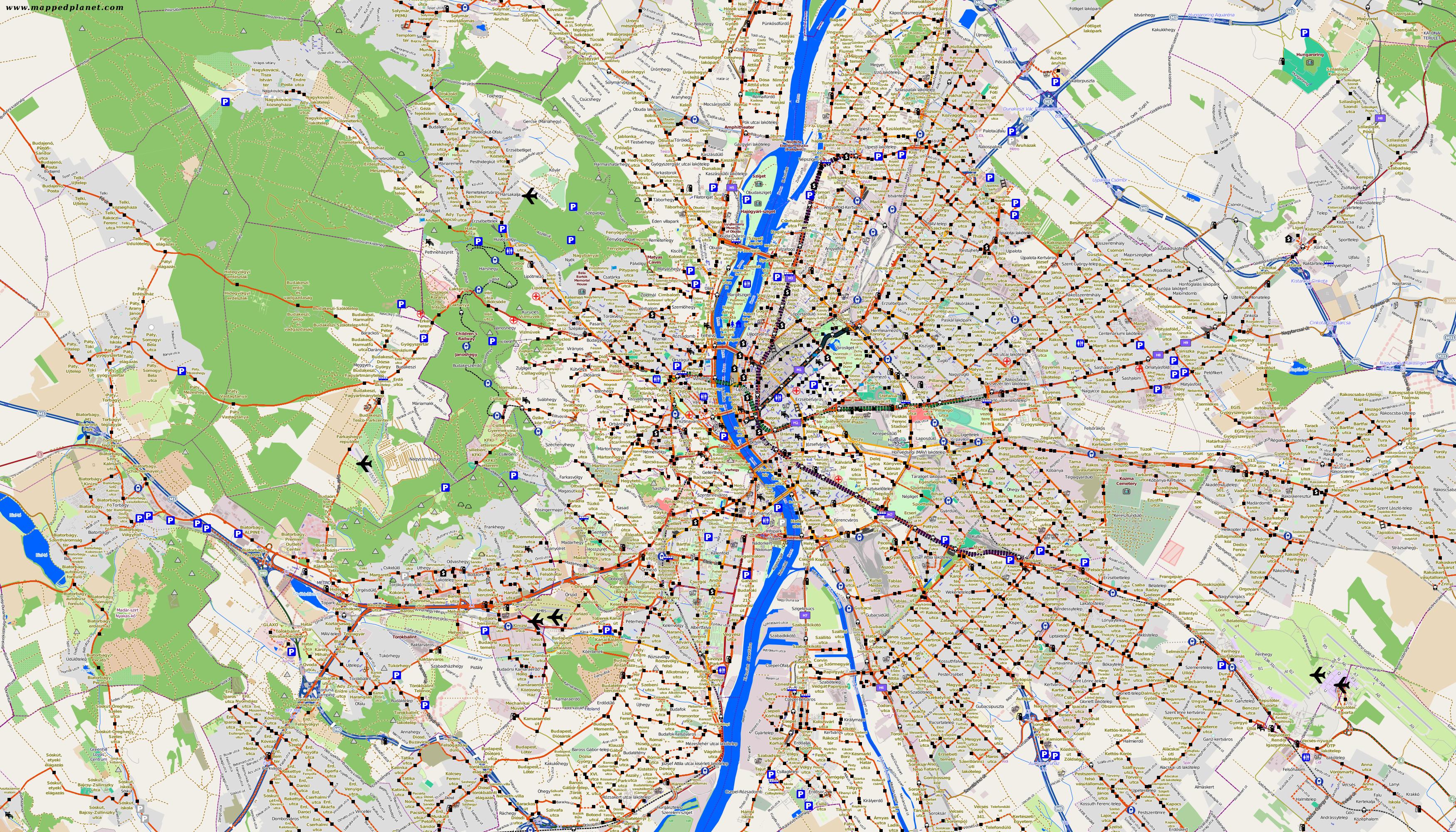 budapest karte Karten und Stadtpläne Budapest