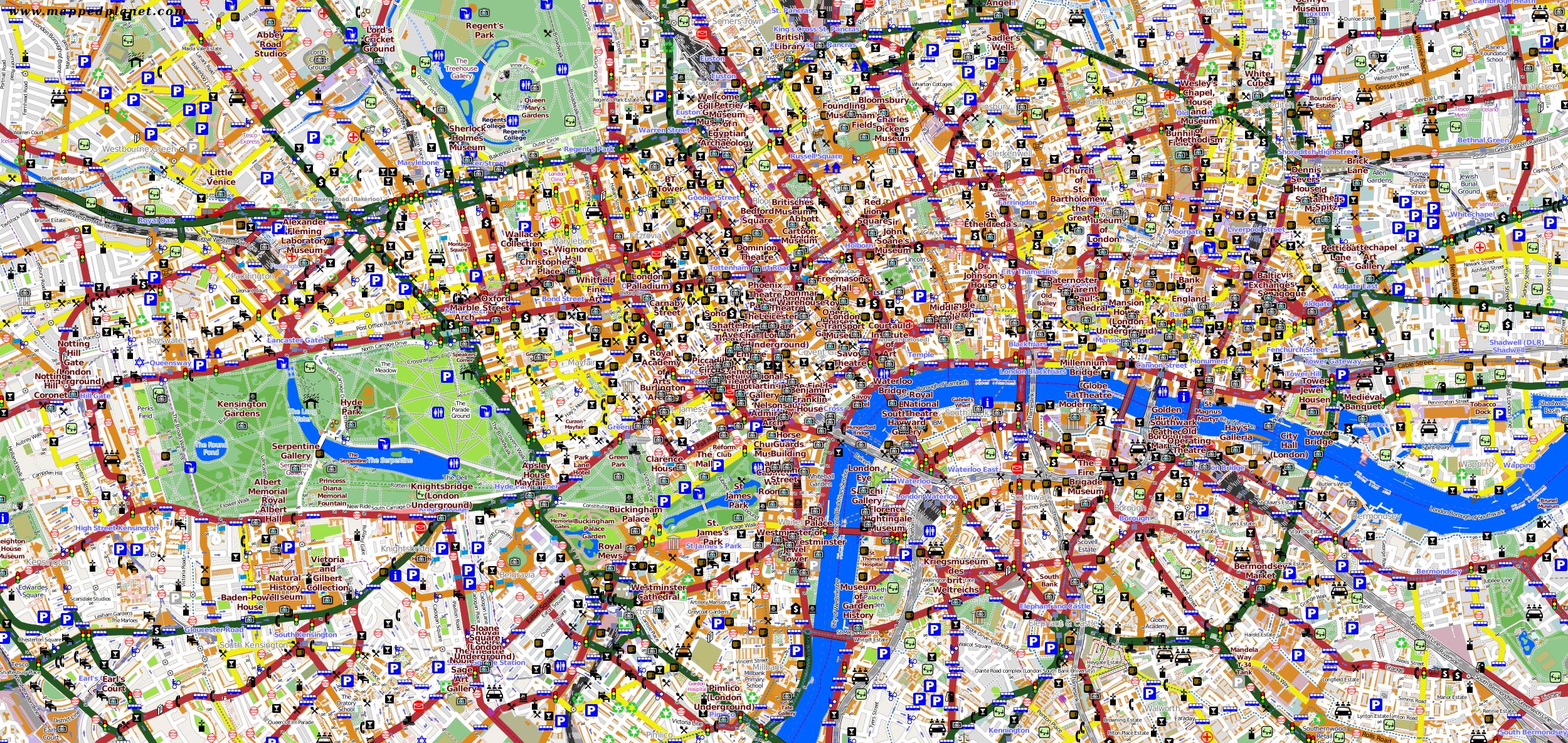 Karte London.Karten Und Stadtpläne London