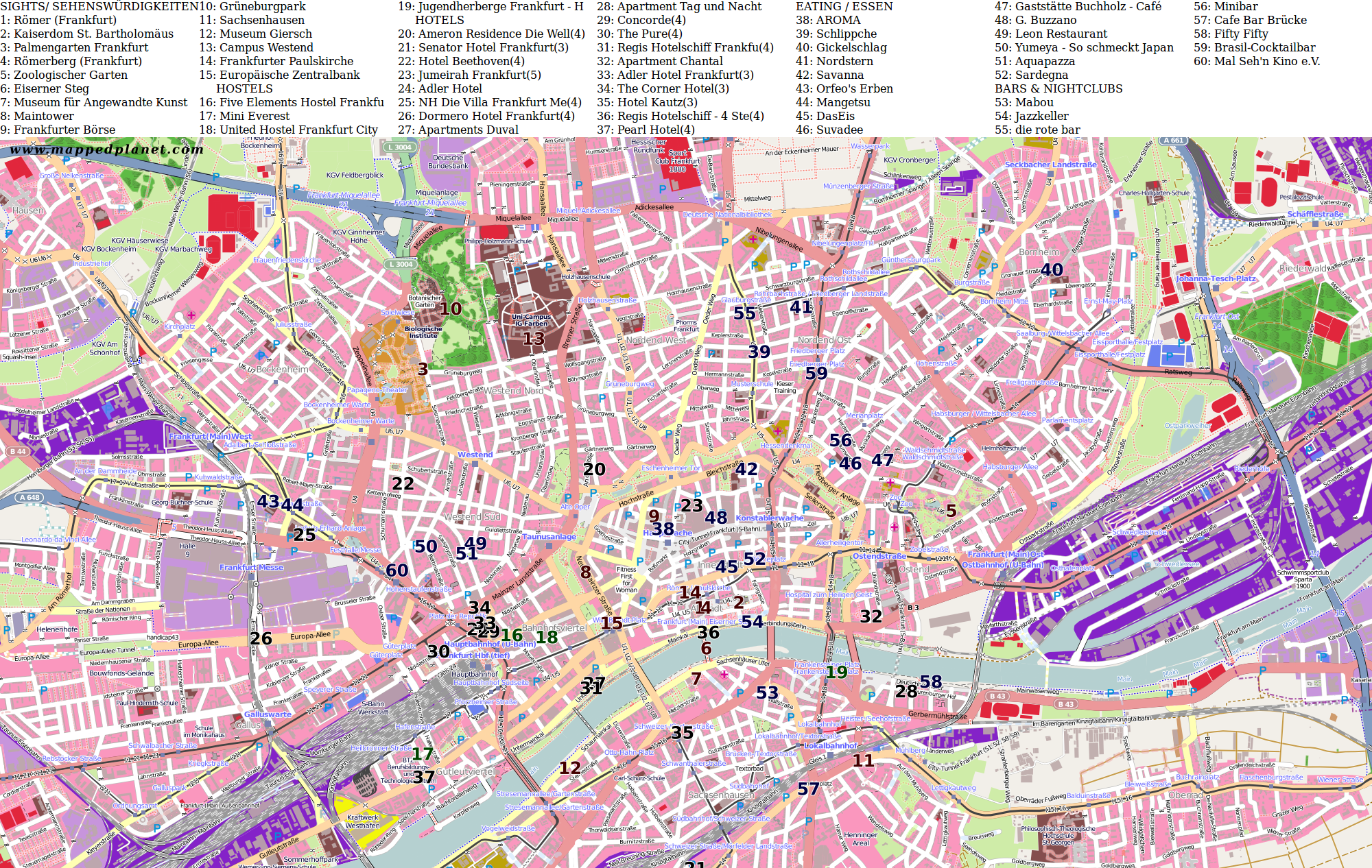 City Maps Frankfurt Am Main