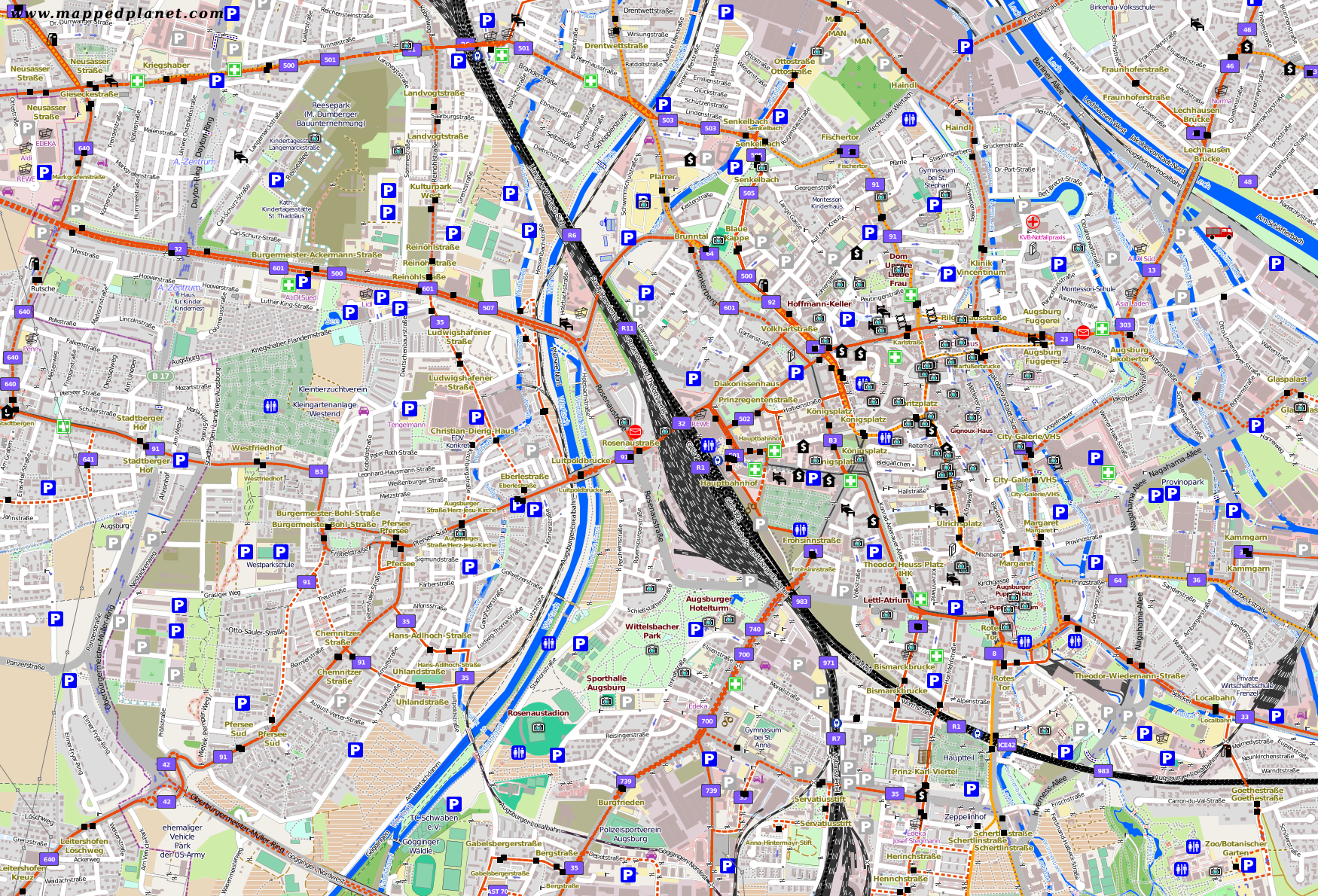 City maps Augsburg