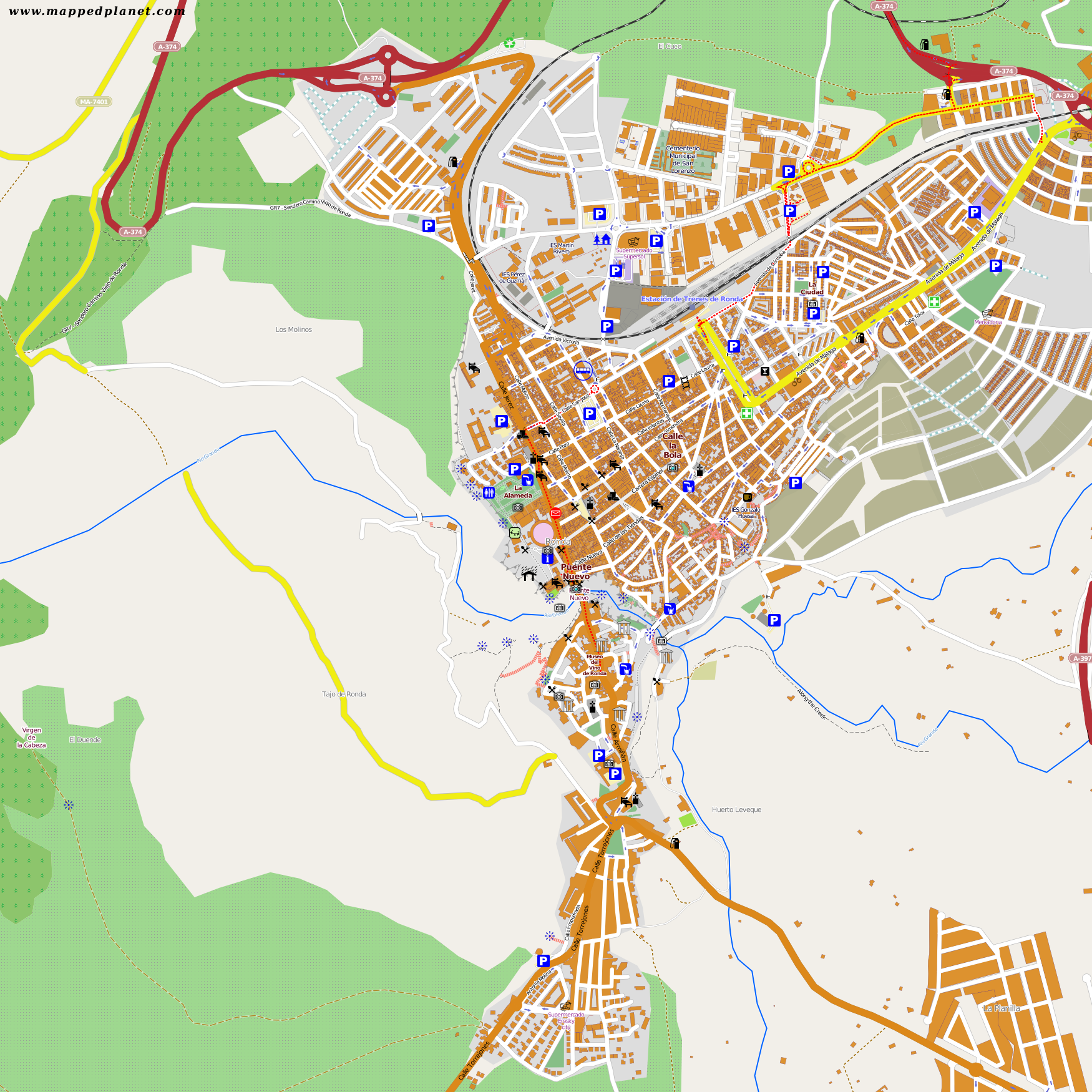 City Maps Ronda