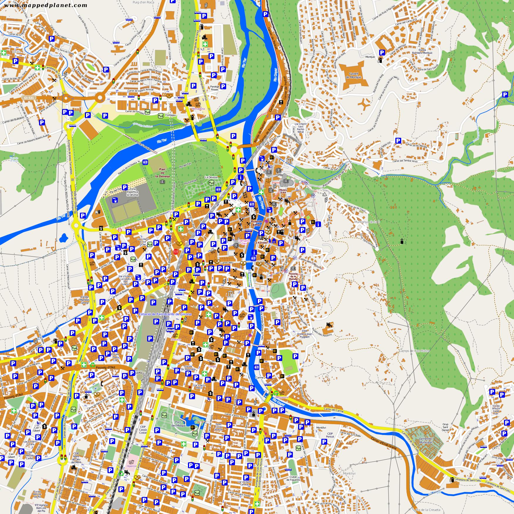 Girona Karte