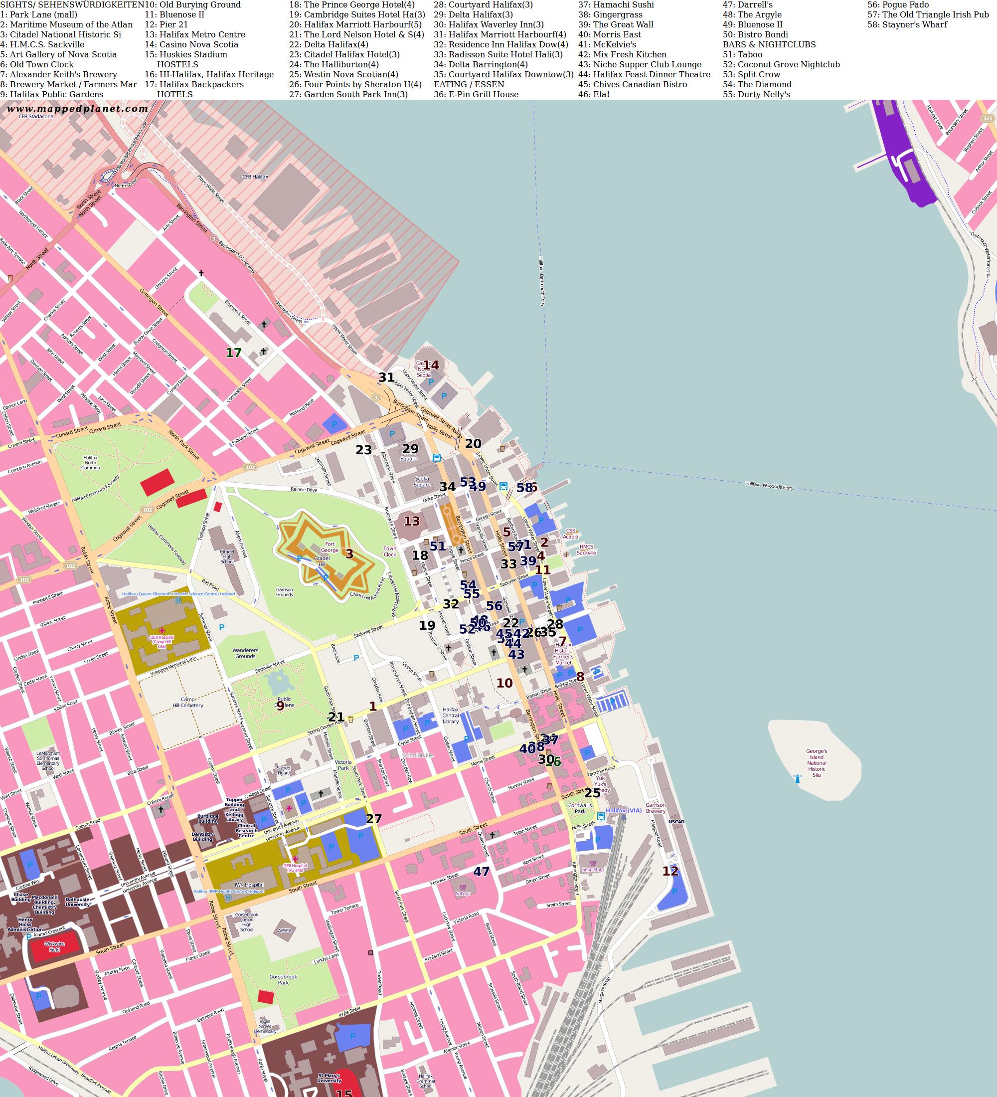 City maps Halifax