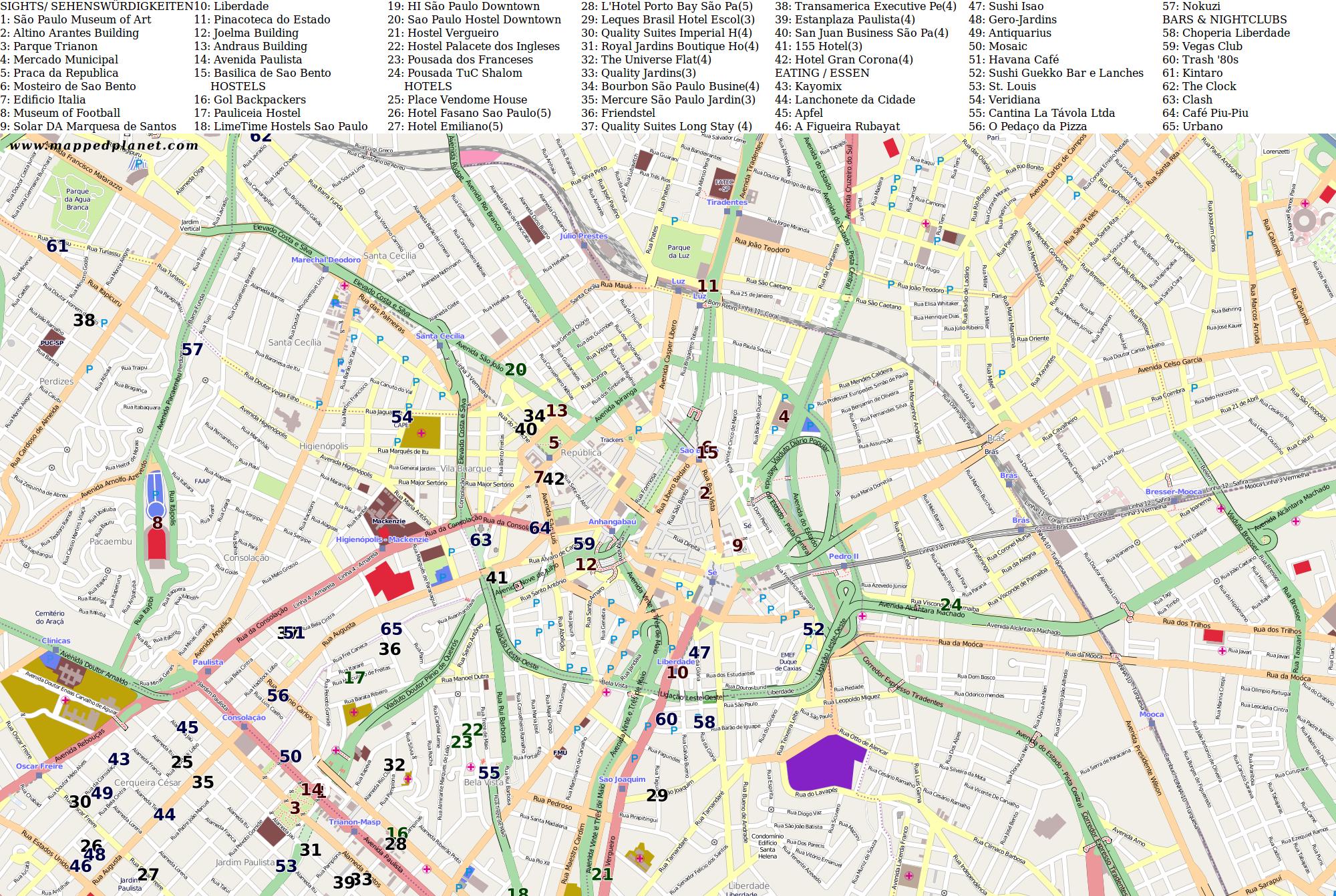 City Maps São Paulo - Map of sao paulo