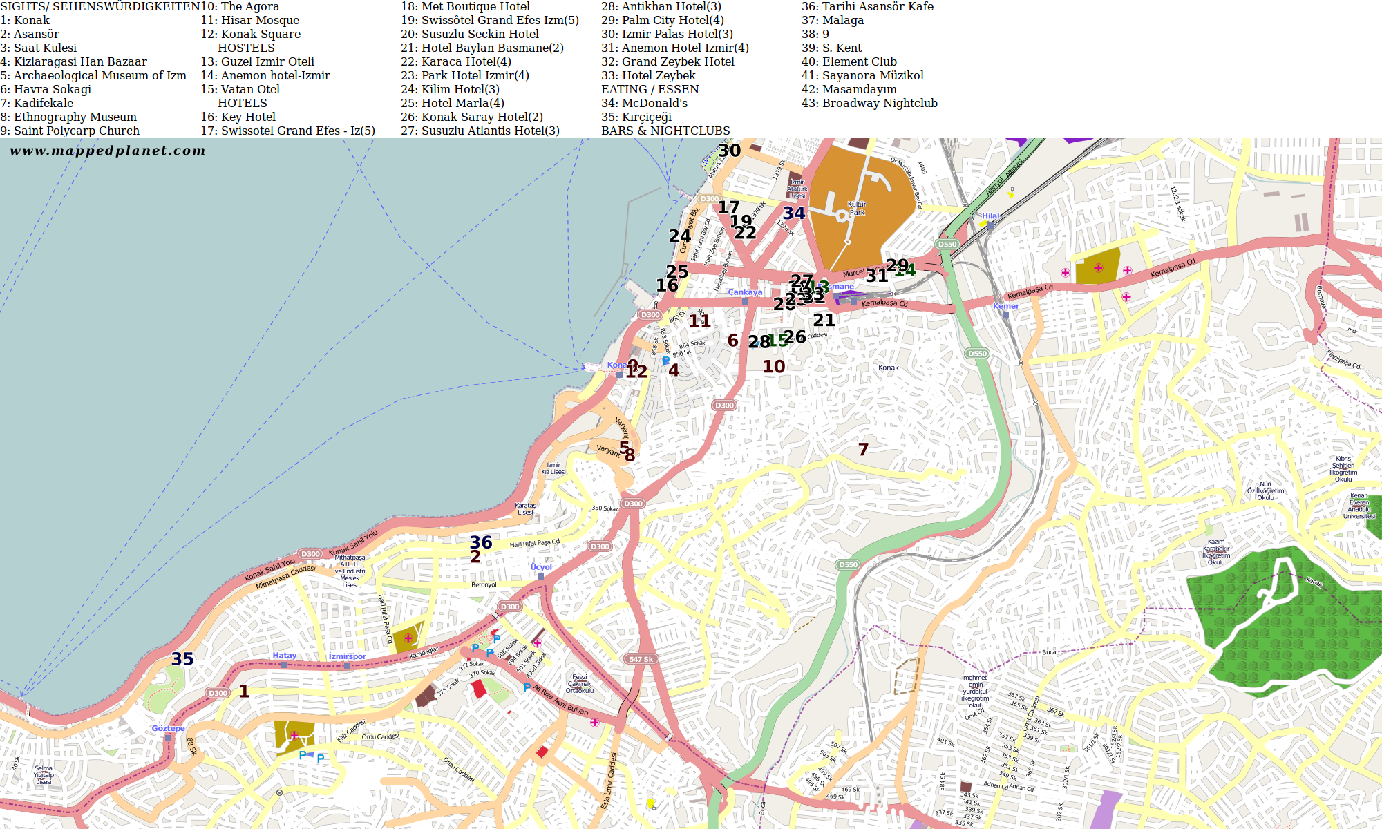 City maps zmir