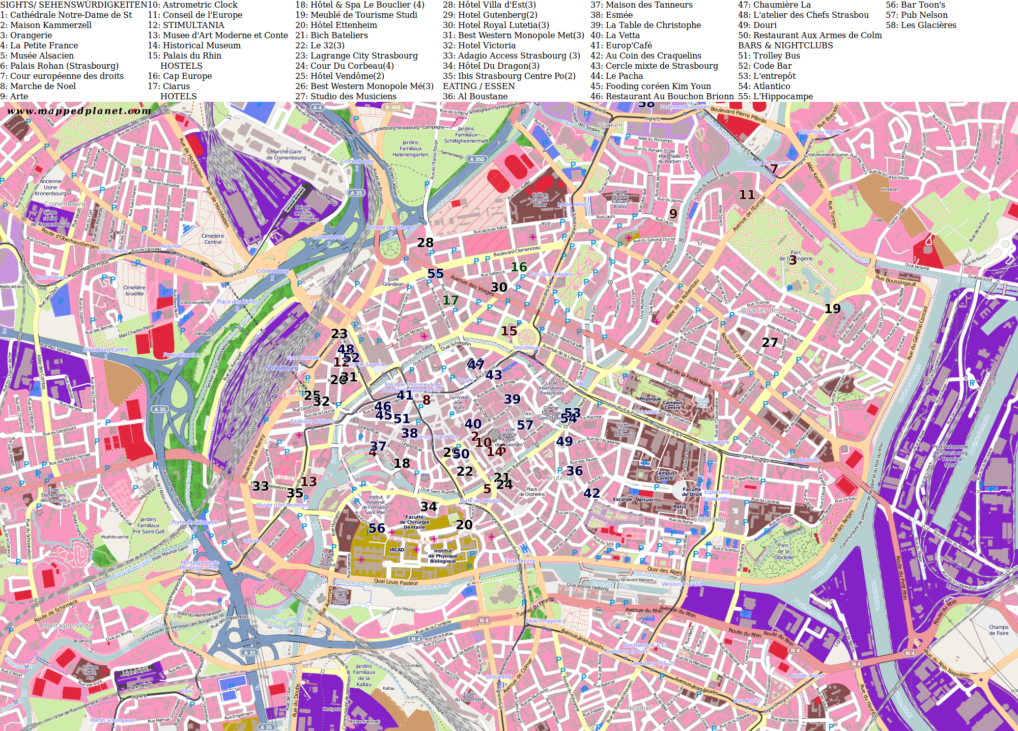 City maps Strasbourg