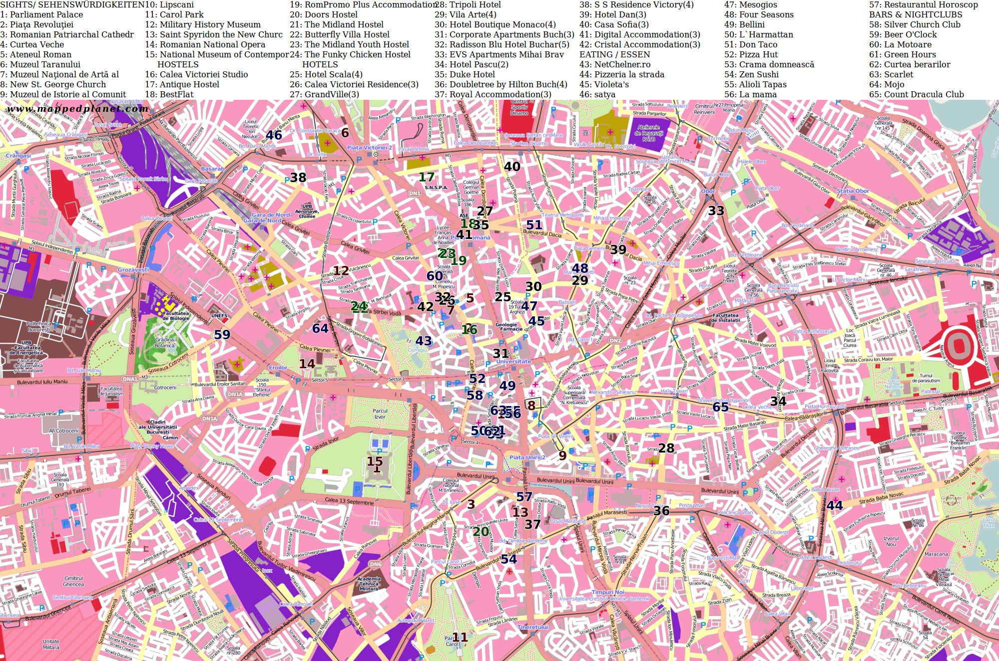 City maps Bucharest