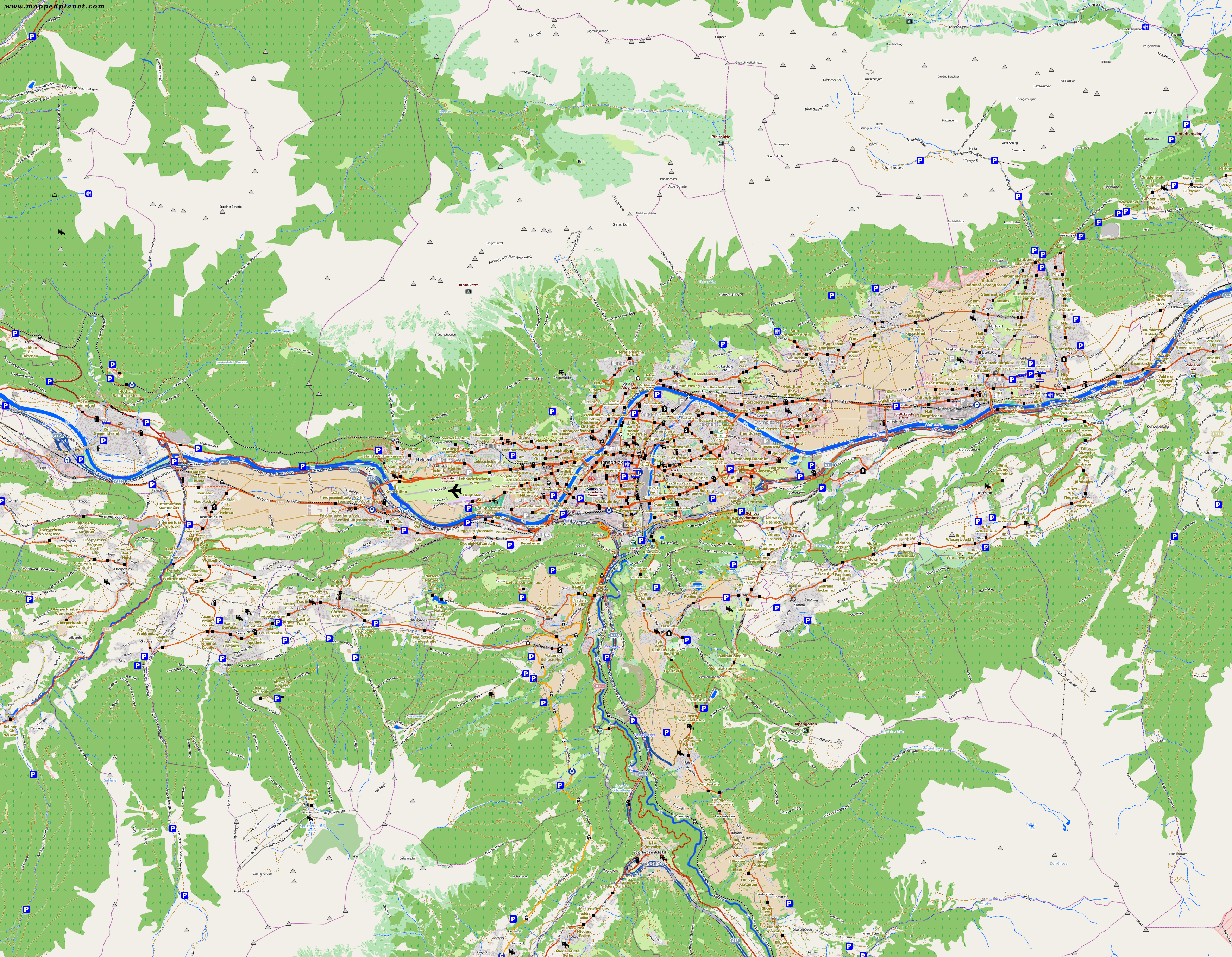 City maps Innsbruck