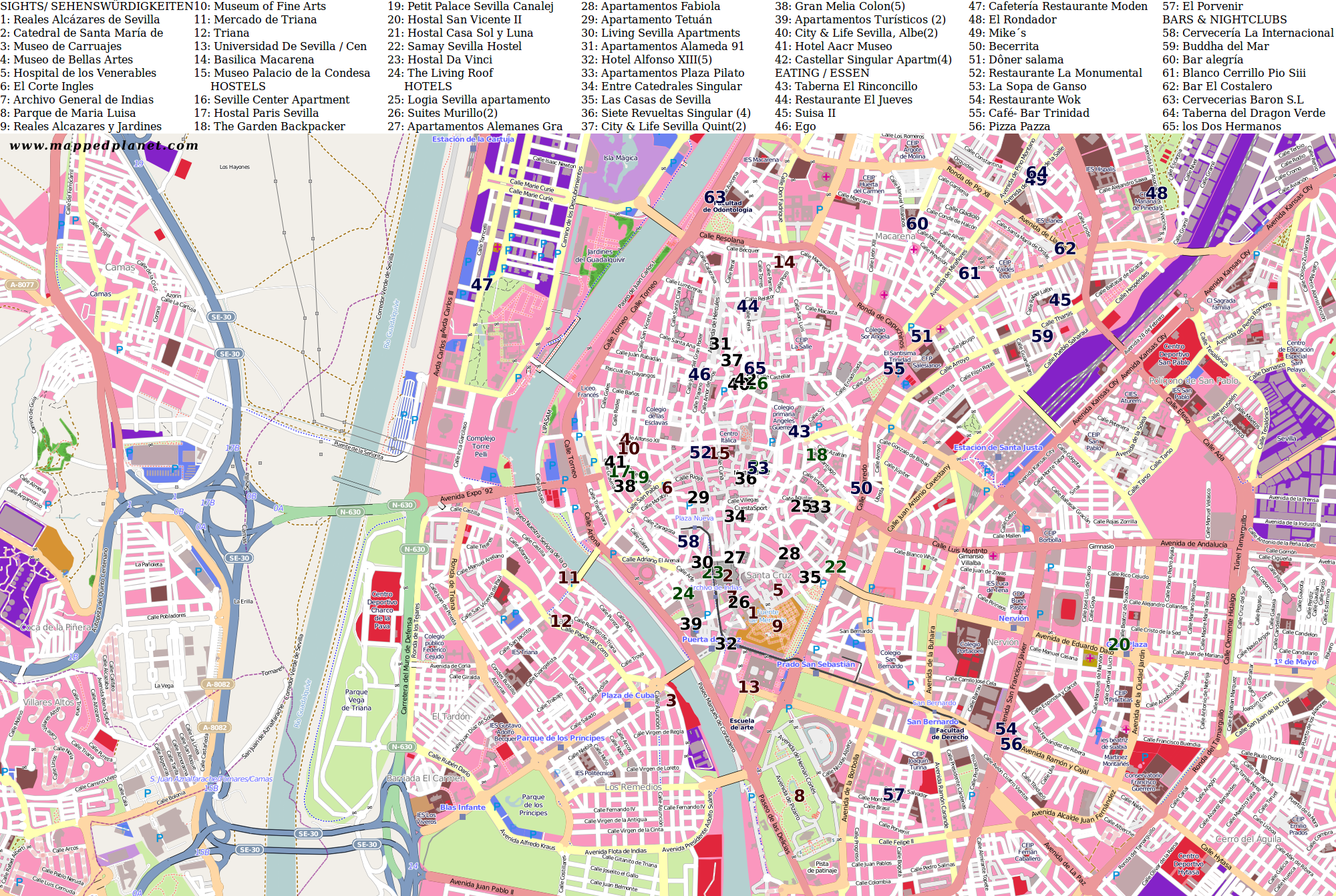 City maps Seville