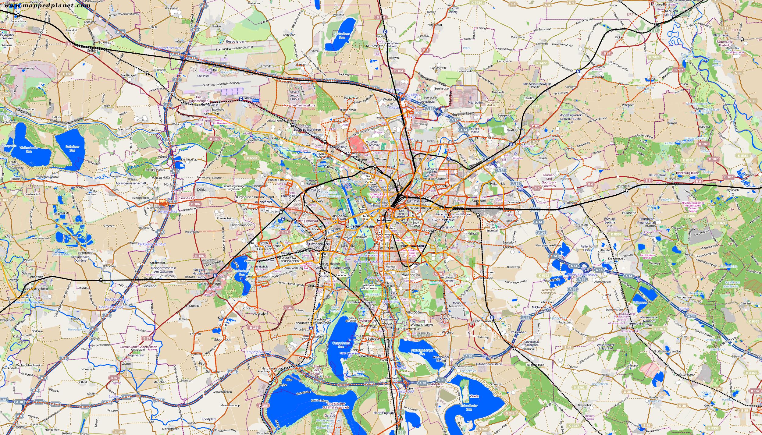 City maps Leipzig