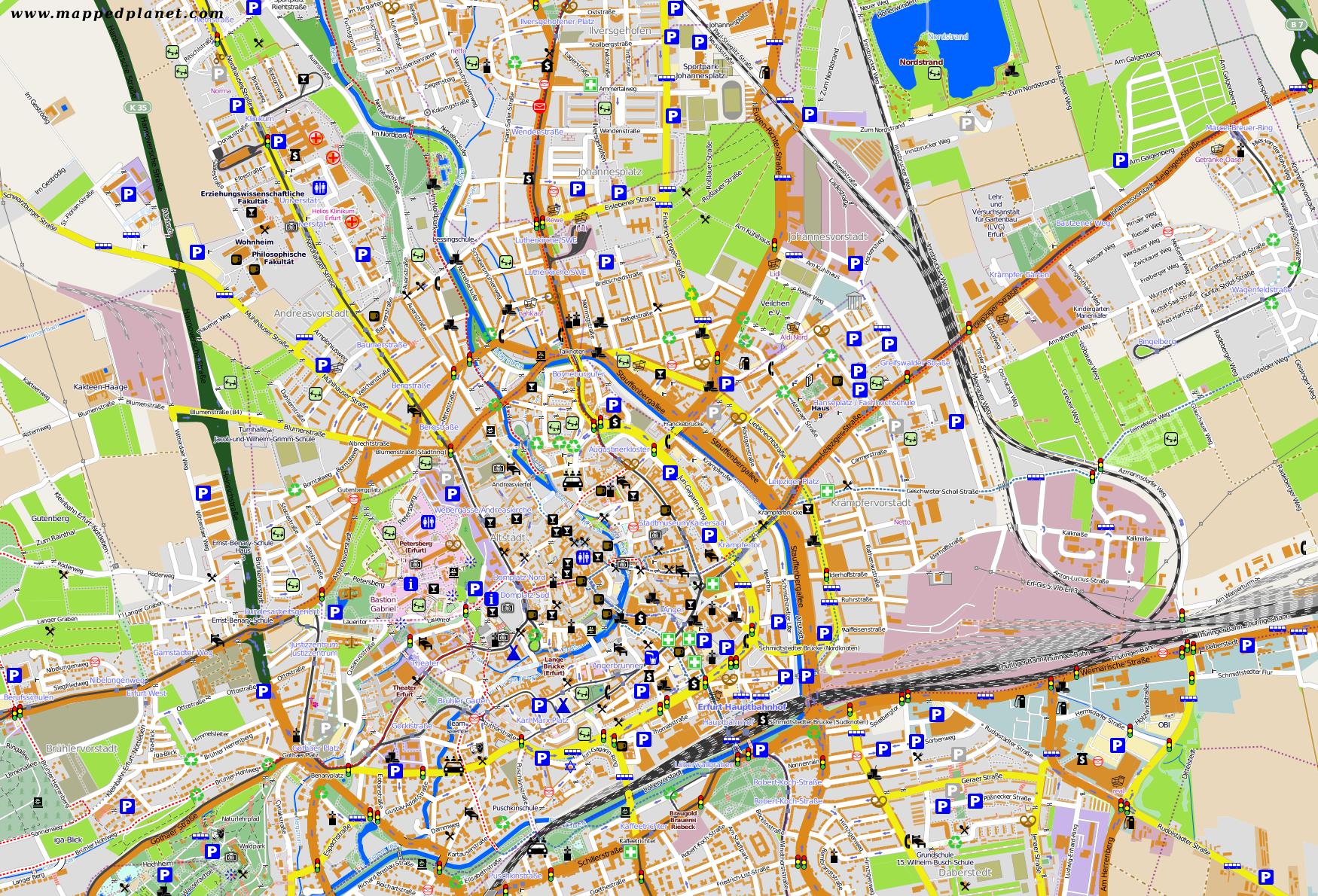 karte erfurt Karten und Stadtpläne Erfurt