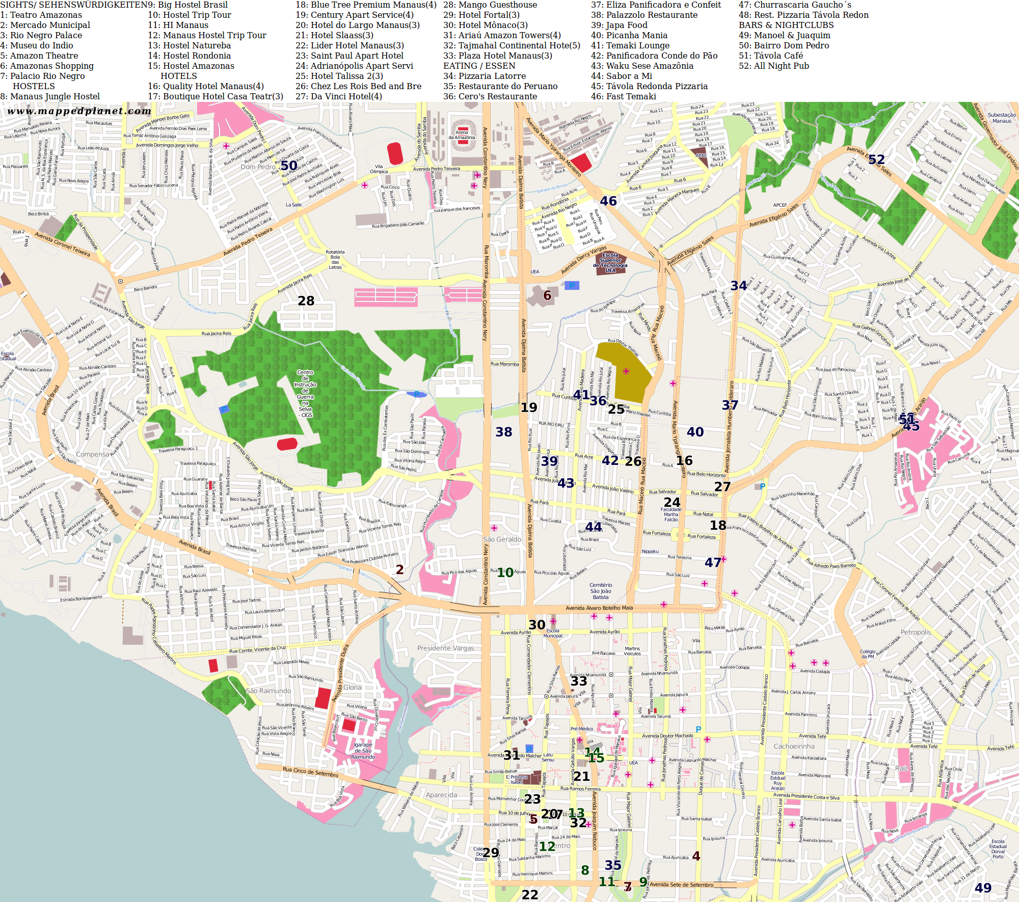City maps Manaus