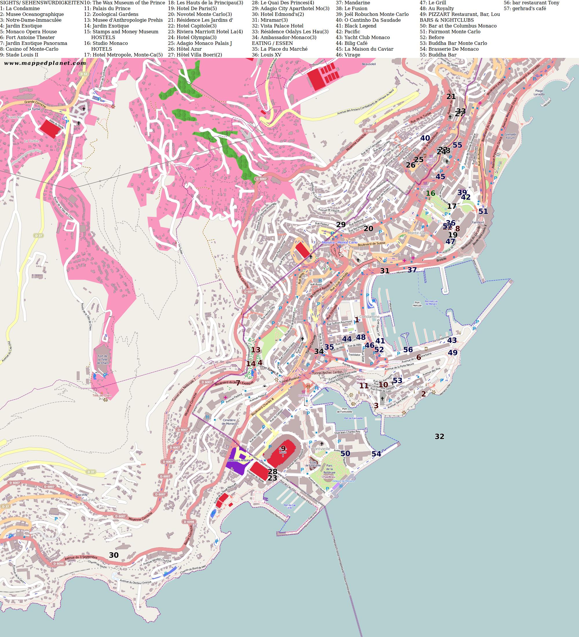 City maps Monaco