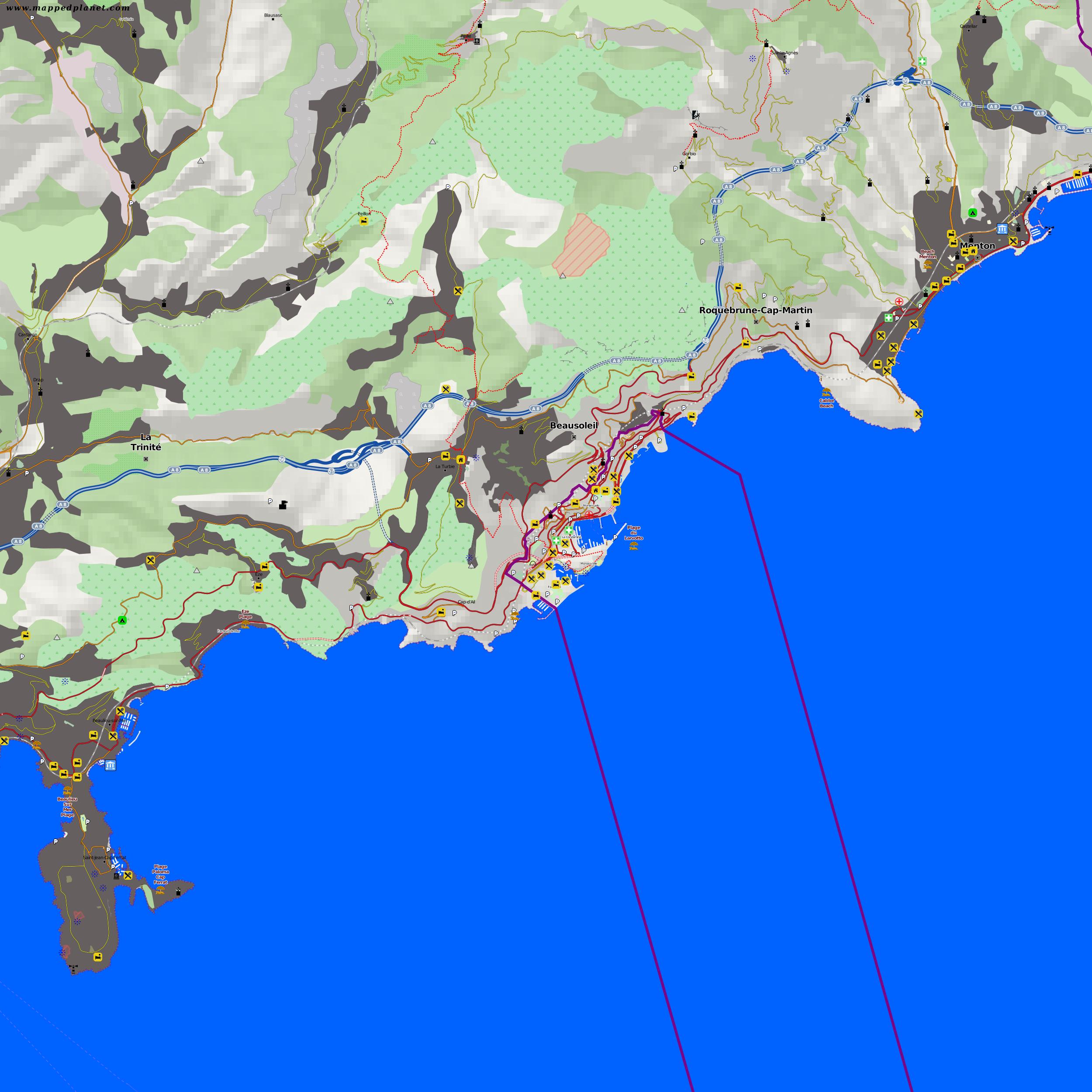 maps Monaco