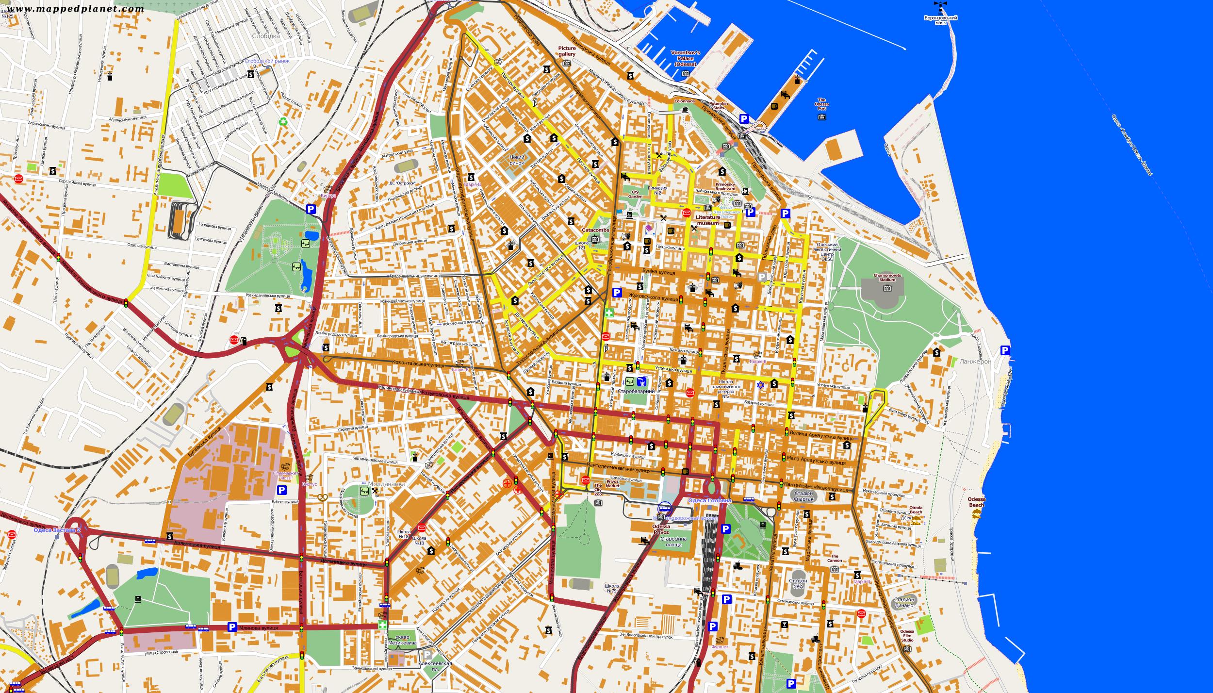 City maps Odessa
