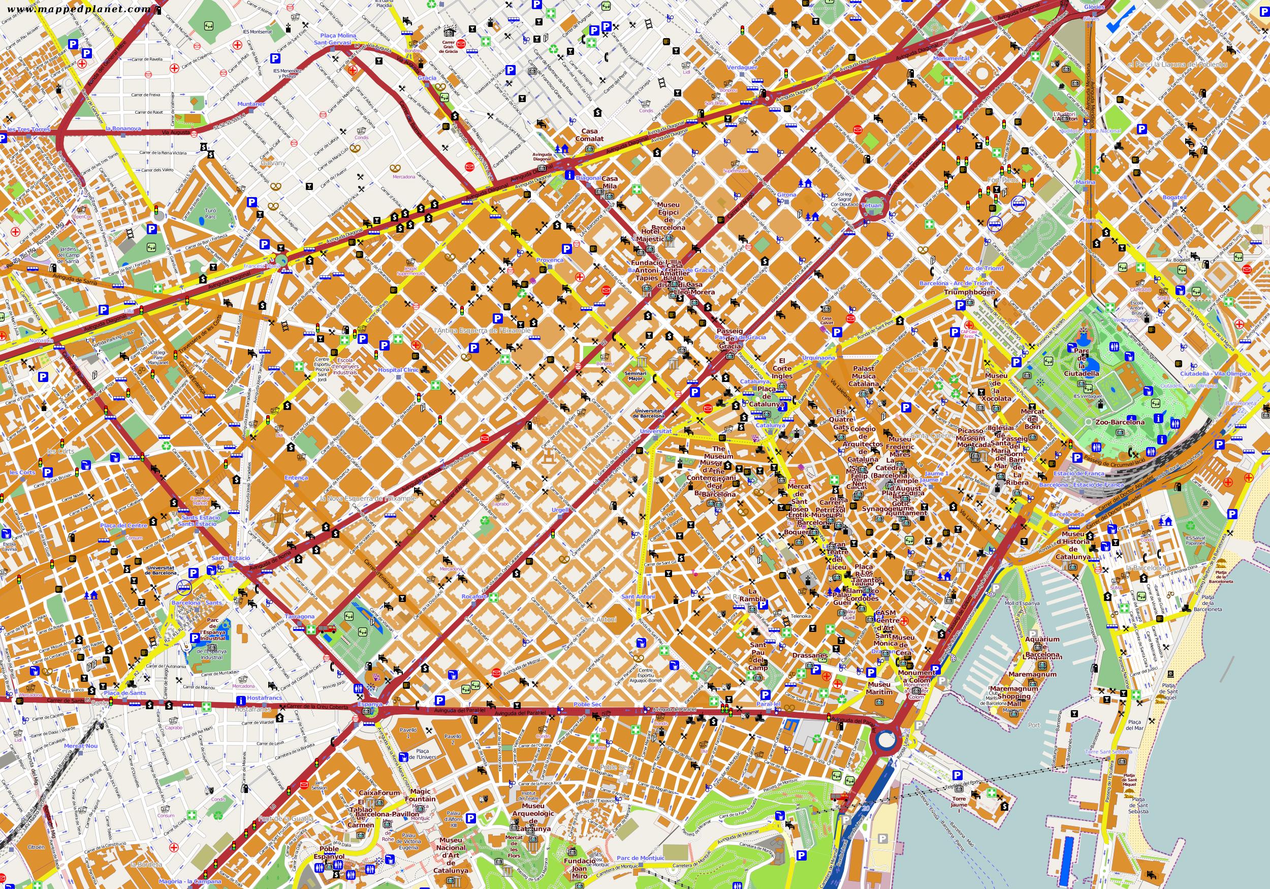 barcelona karte Karten und Stadtpläne Barcelona