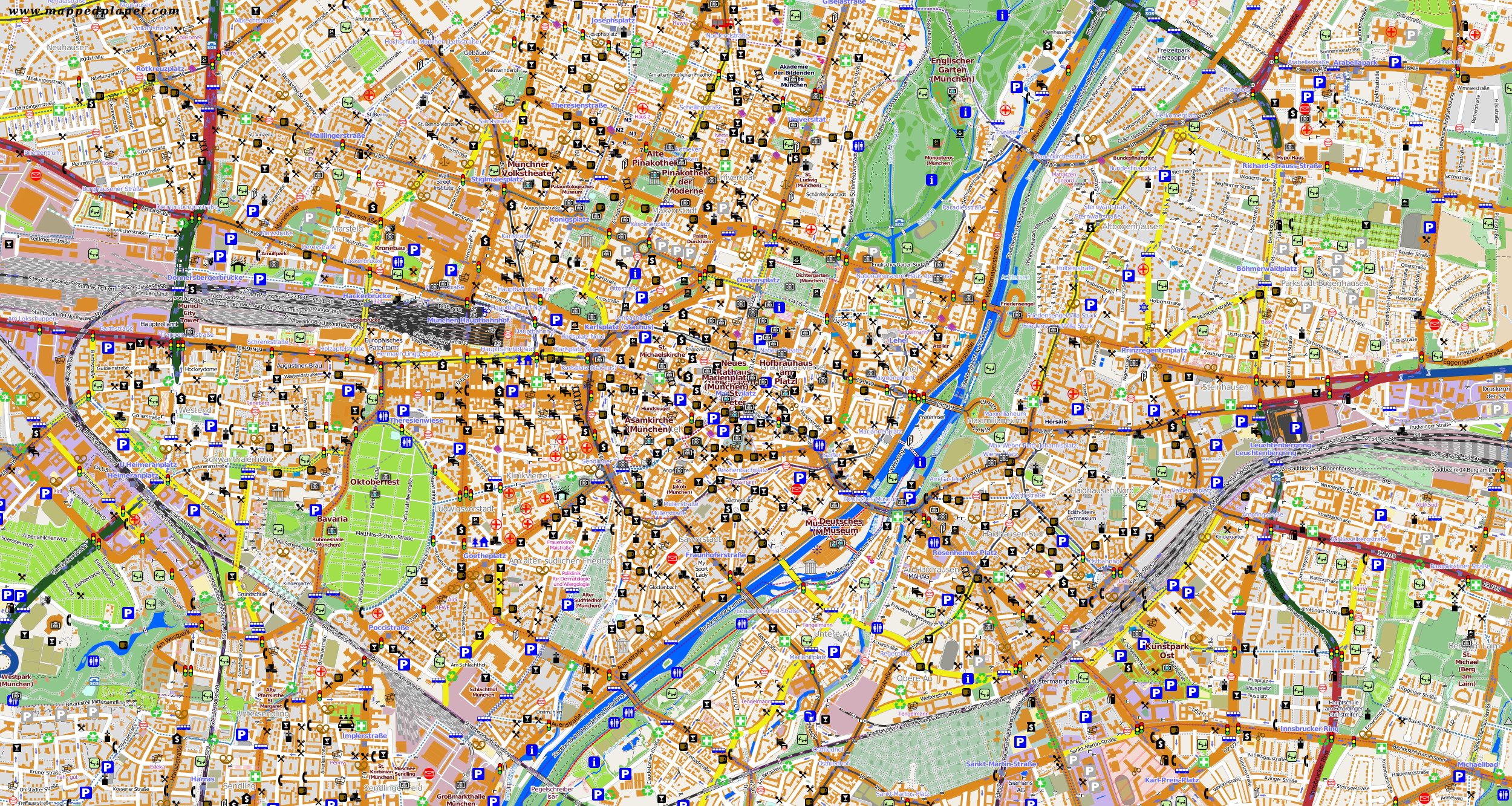 touristic map munich. city maps munich