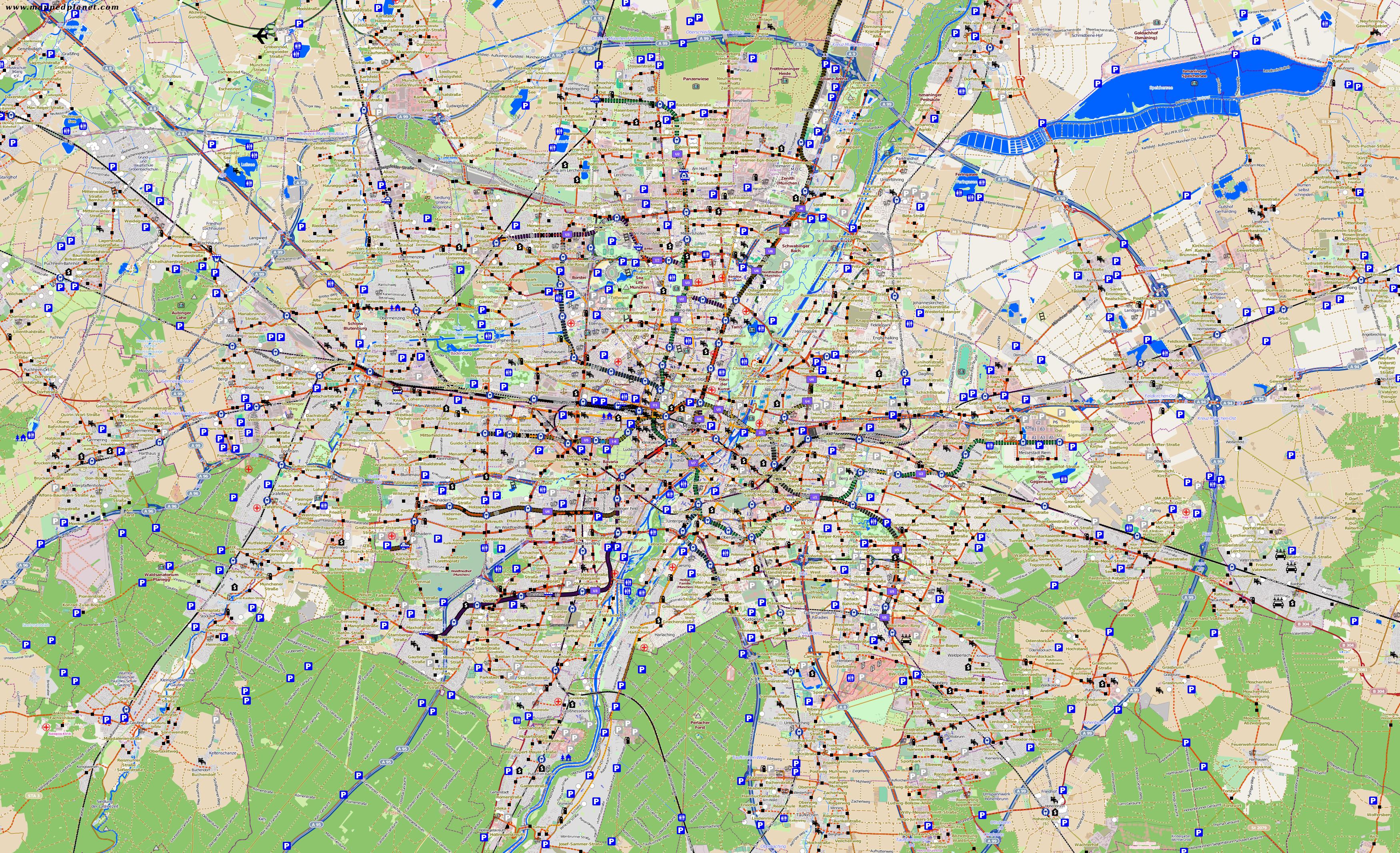 Karte München Stadtteile.Karten Und Stadtpläne München