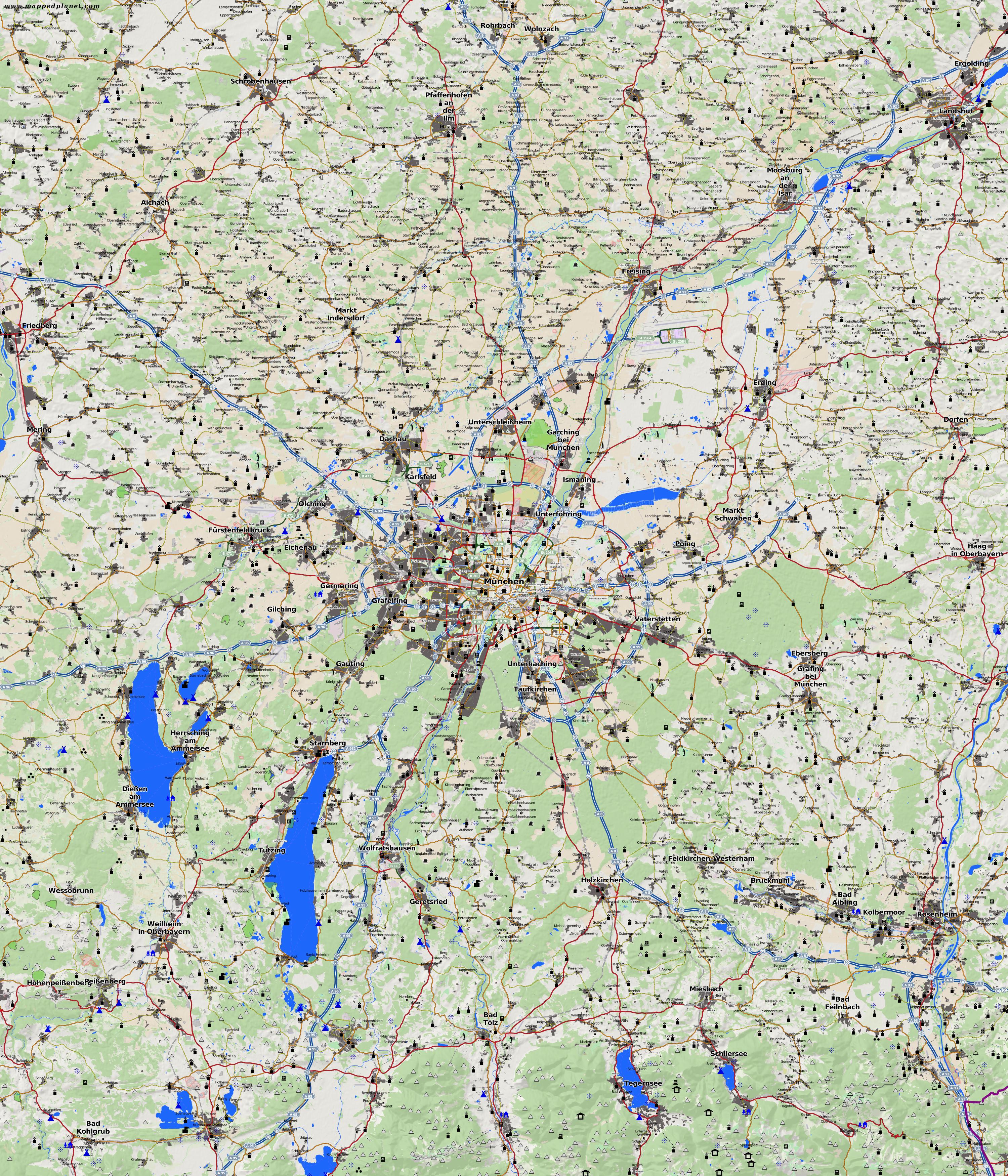 City maps Munich