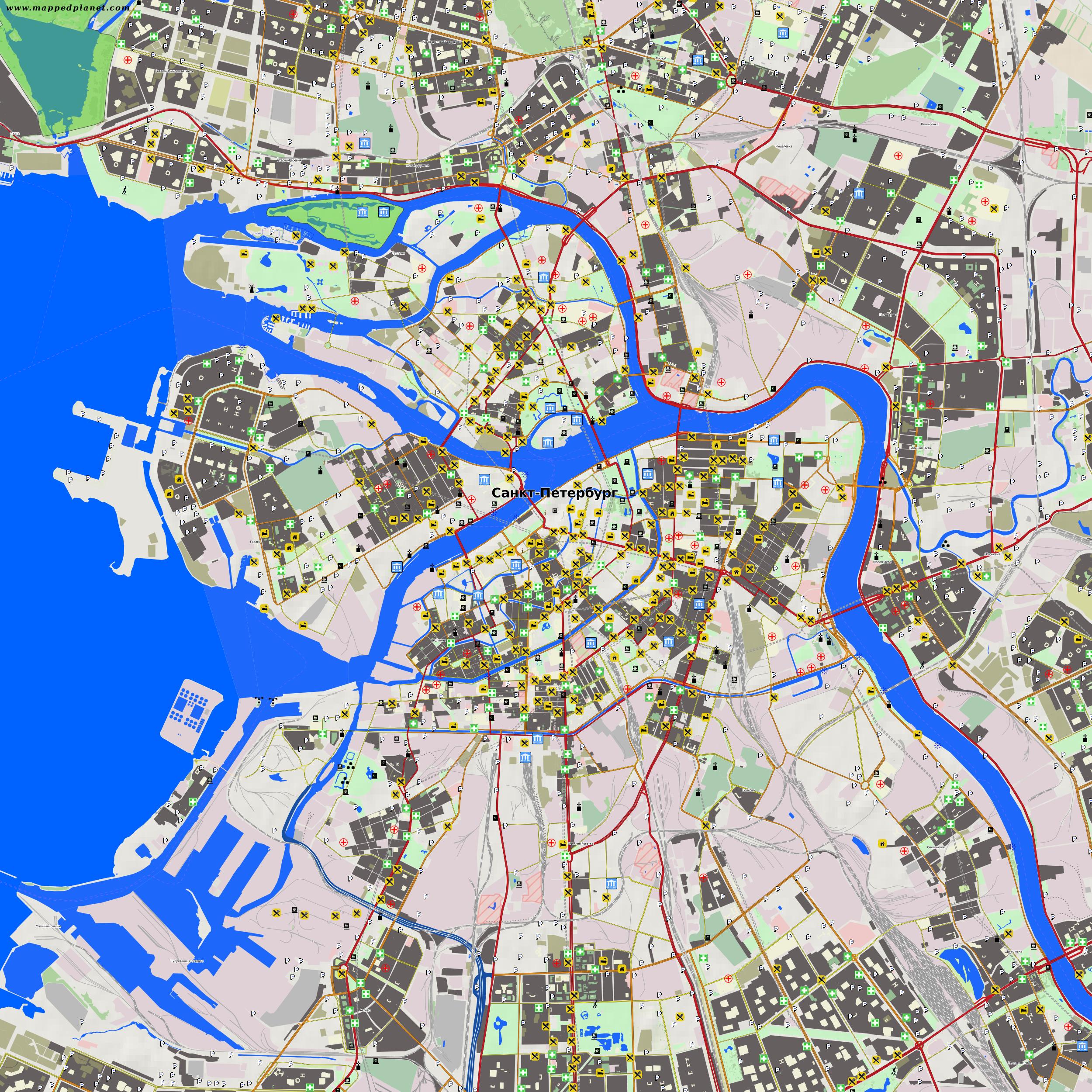 Karten Und Stadtplane Sankt Petersburg