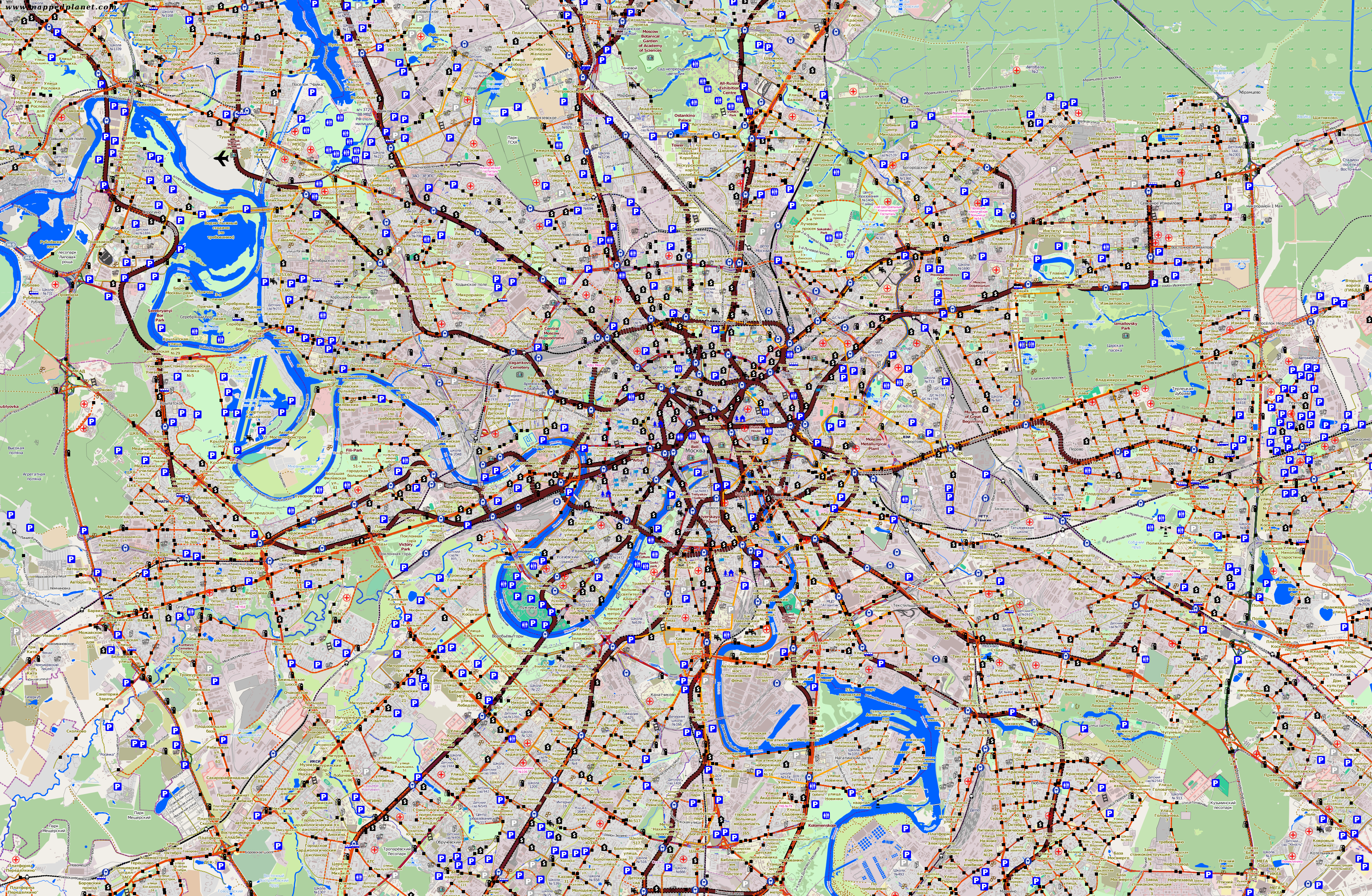 traffic map moscow. city maps moscow