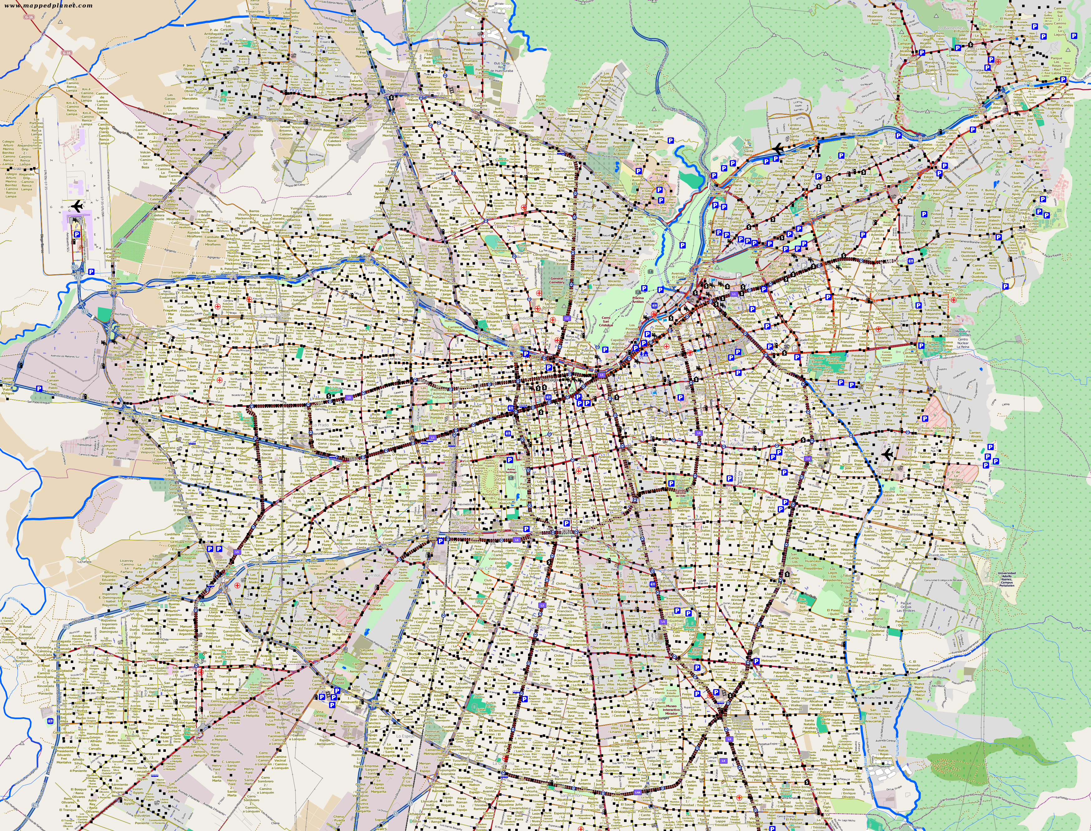 city maps santiago