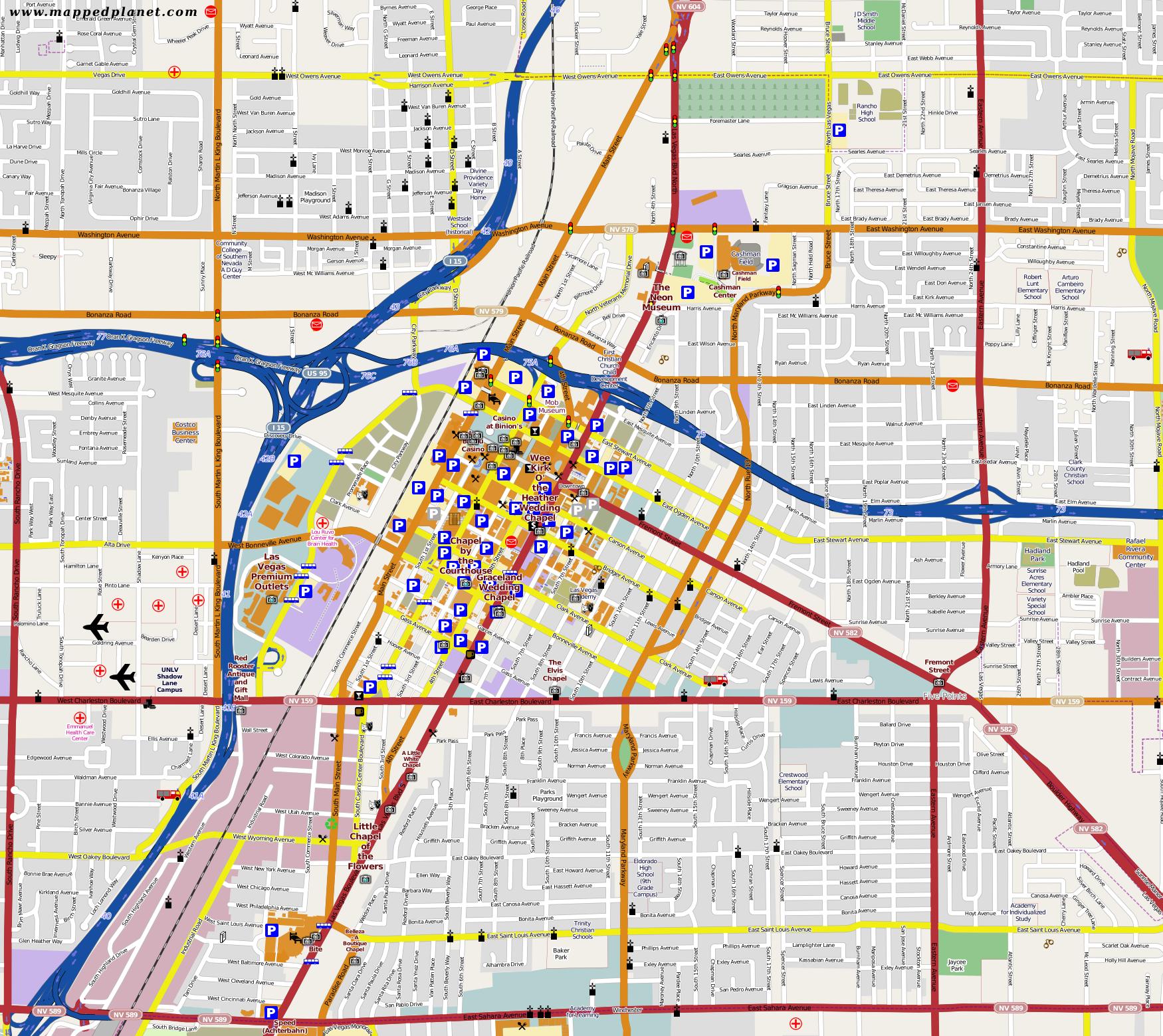 City maps Las Vegas