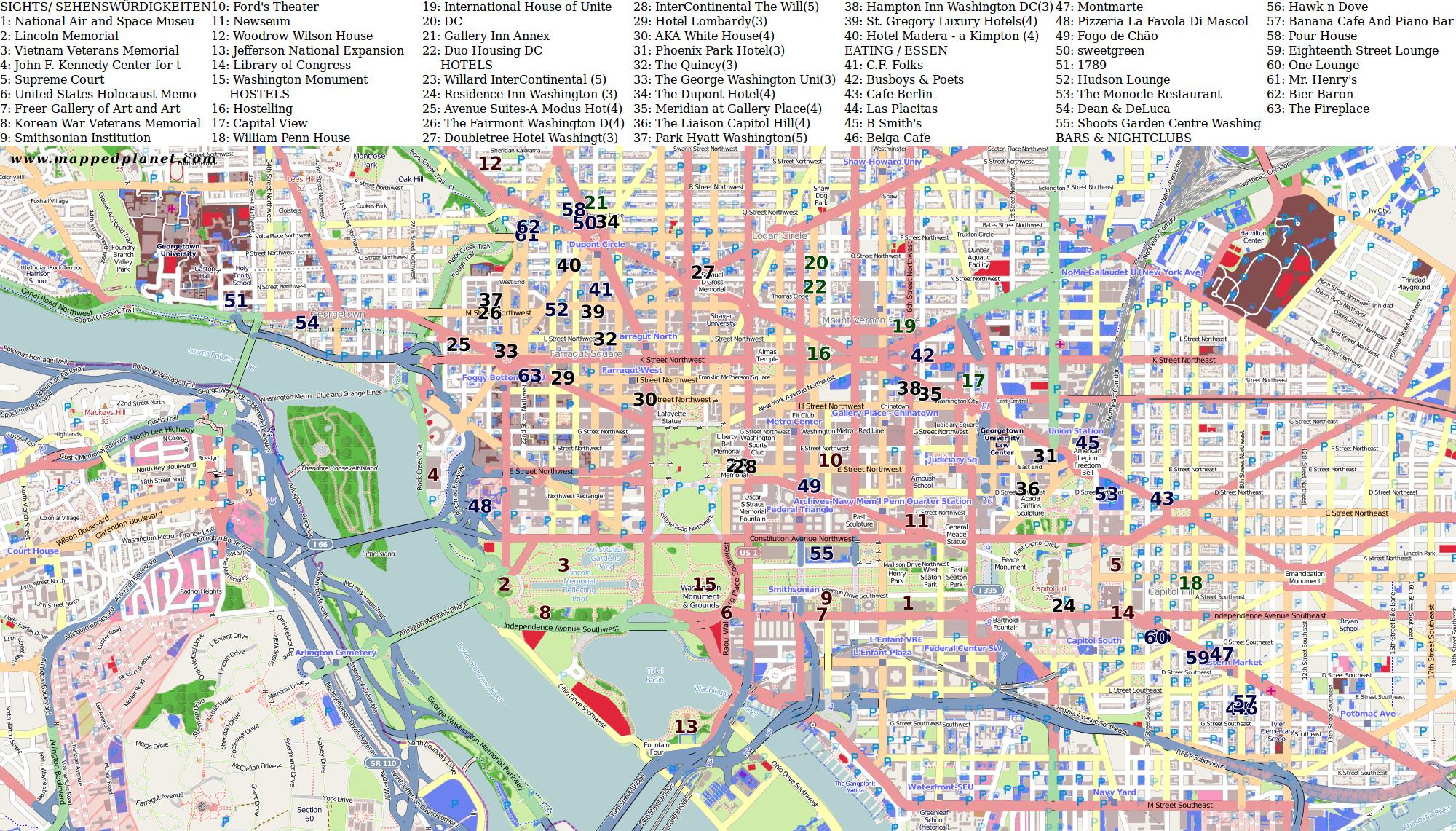 Washington Dc Karte.City Maps Washington Dc