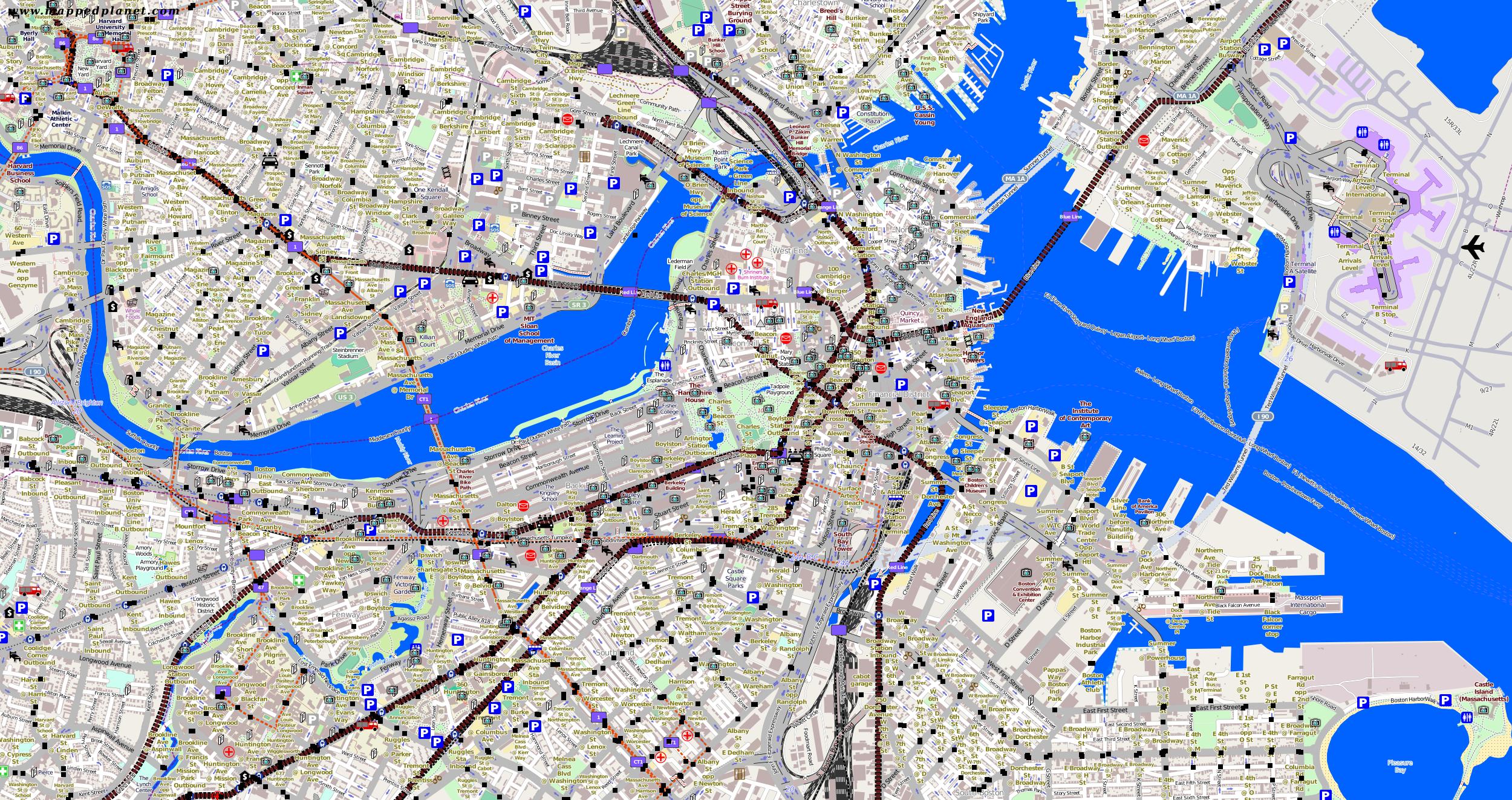 Traffic Map Boston.City Maps Boston
