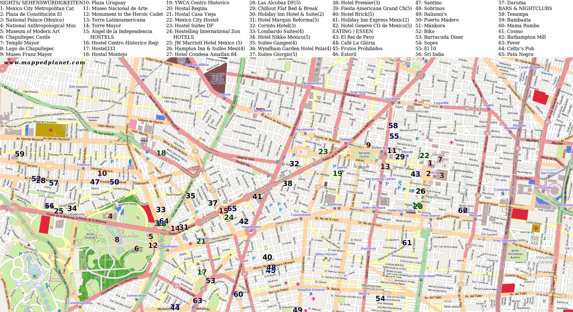 city maps mexico city