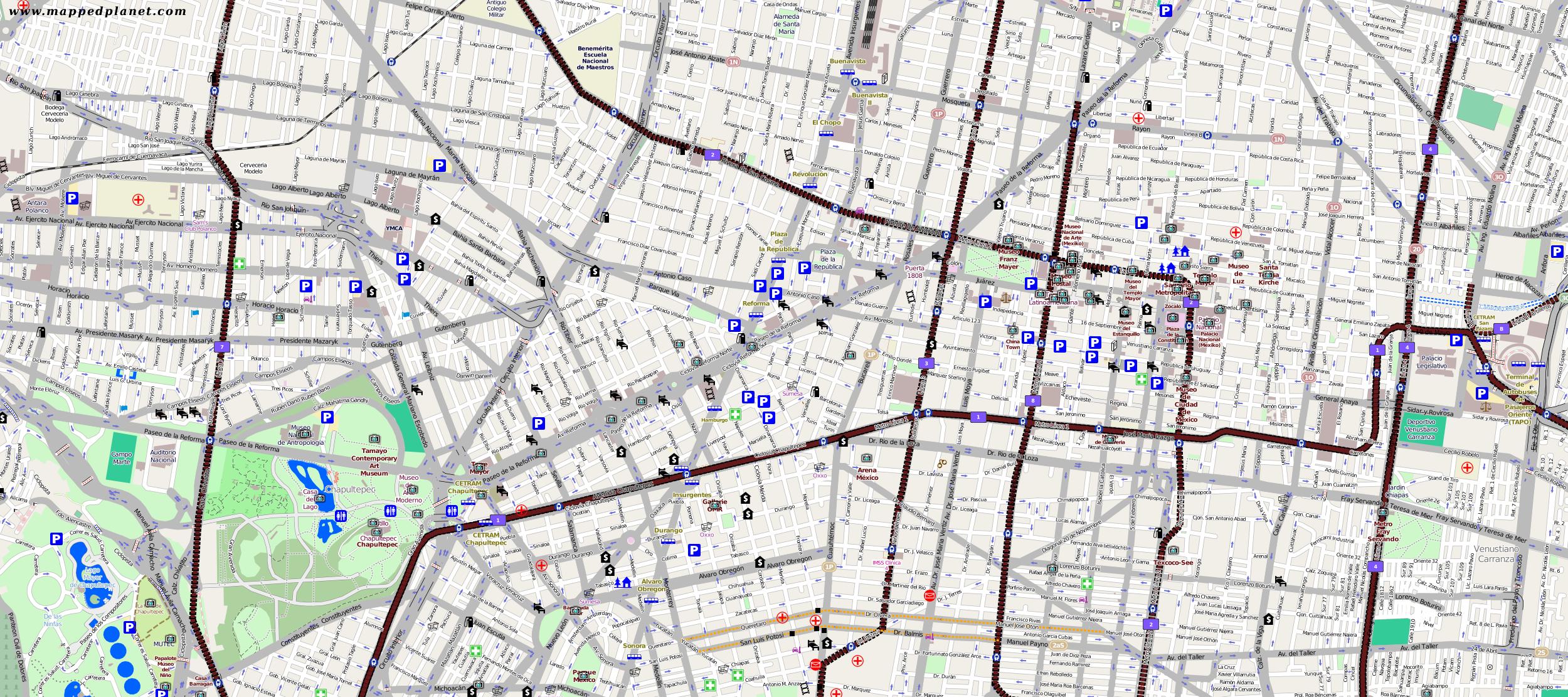 City maps Mexico City – Mapsmexico