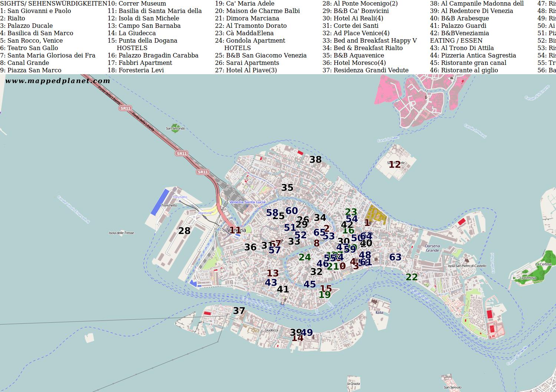 City Maps Venice - Venice city map