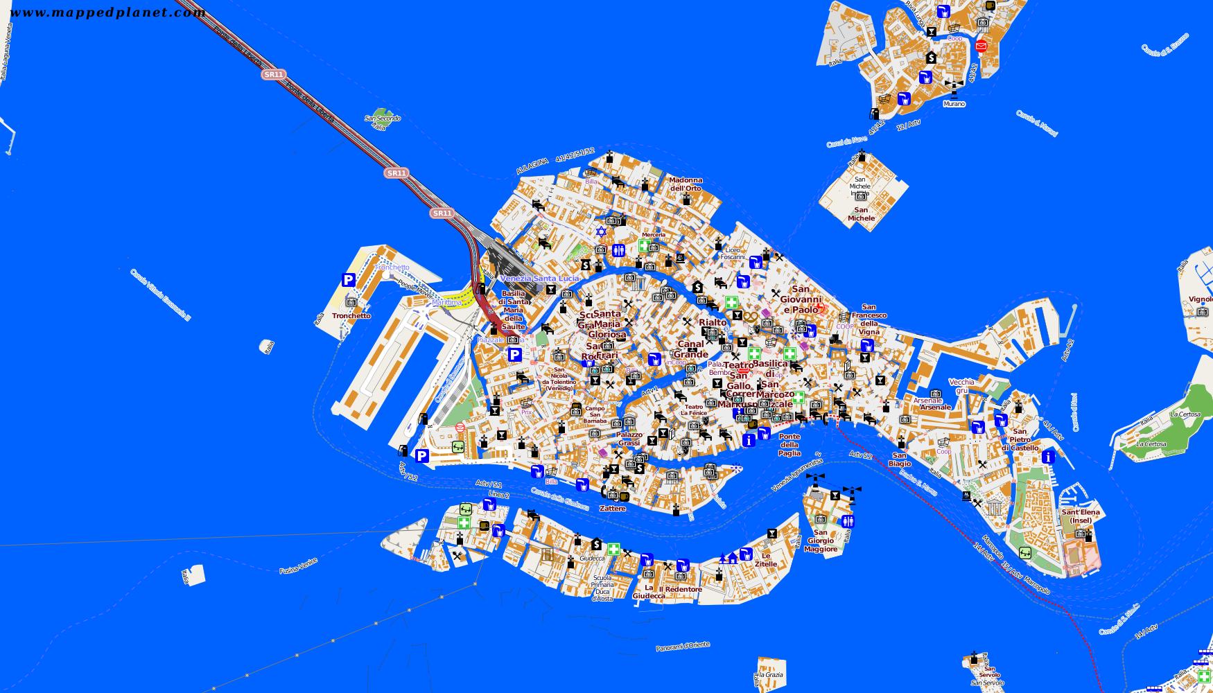 Venedig Karte.Karten Und Stadtplane Venedig