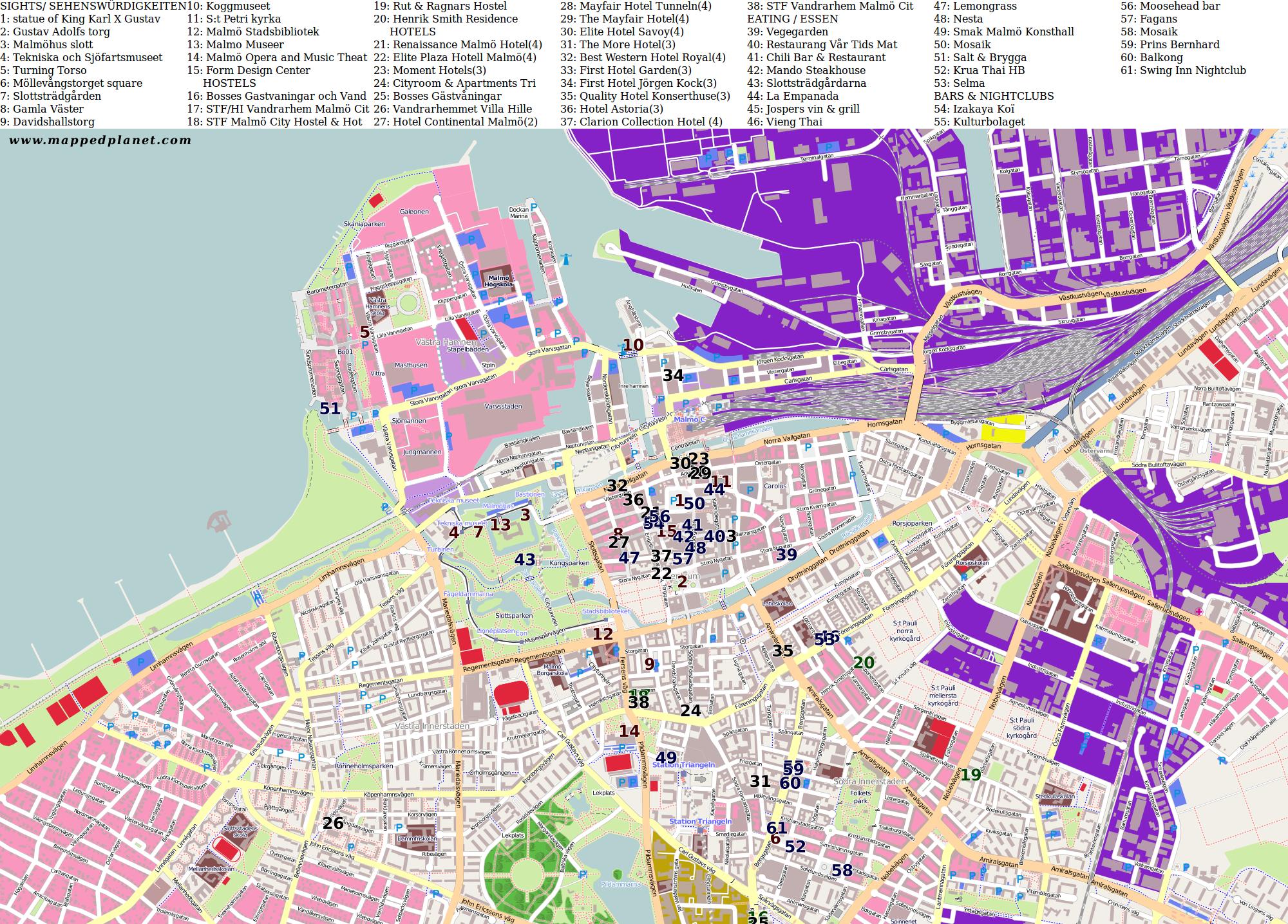 City maps Malm