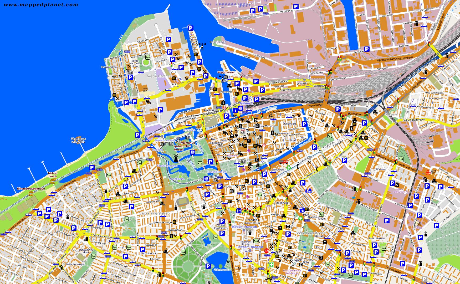 Touristic map Malmö