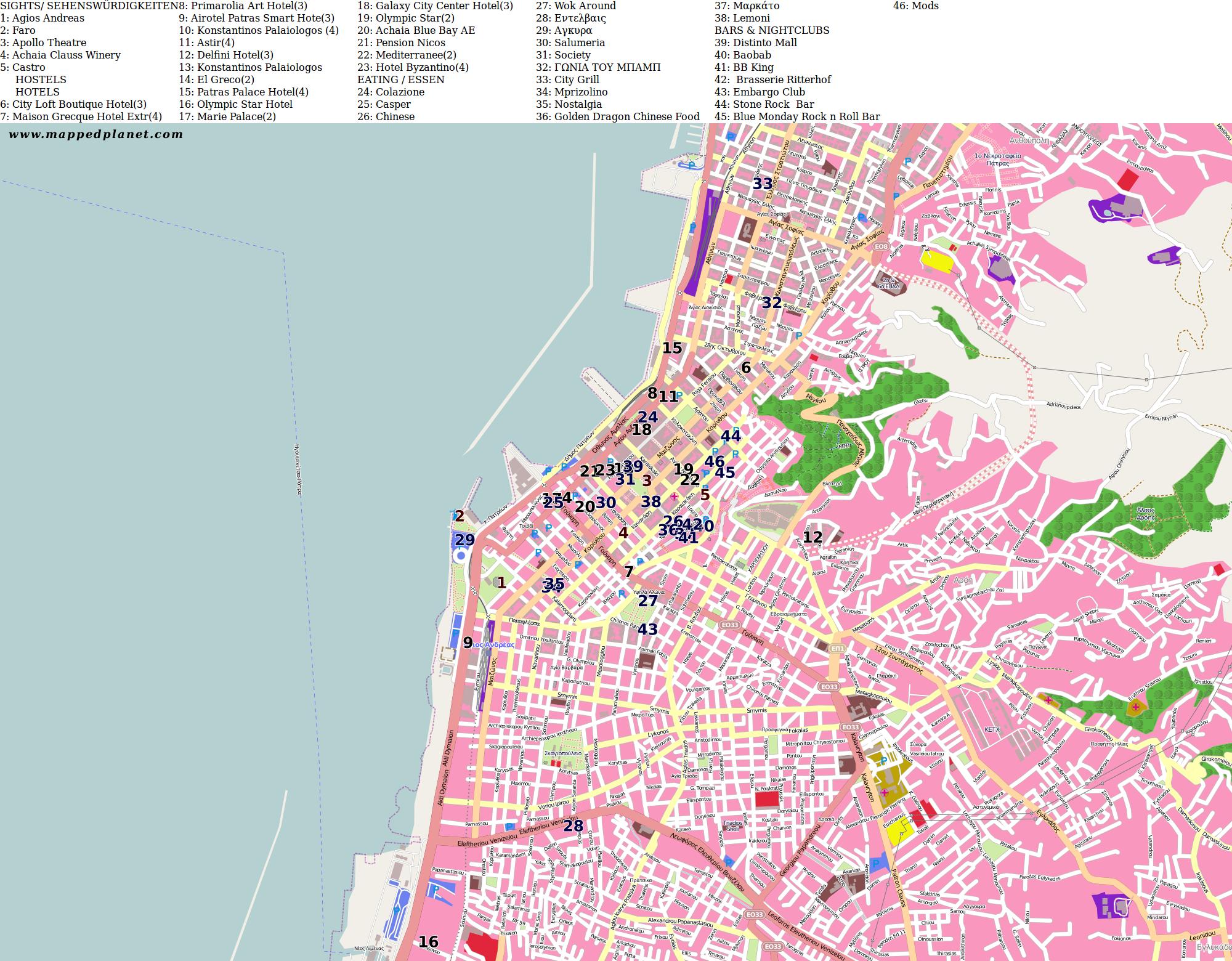 City maps Patras