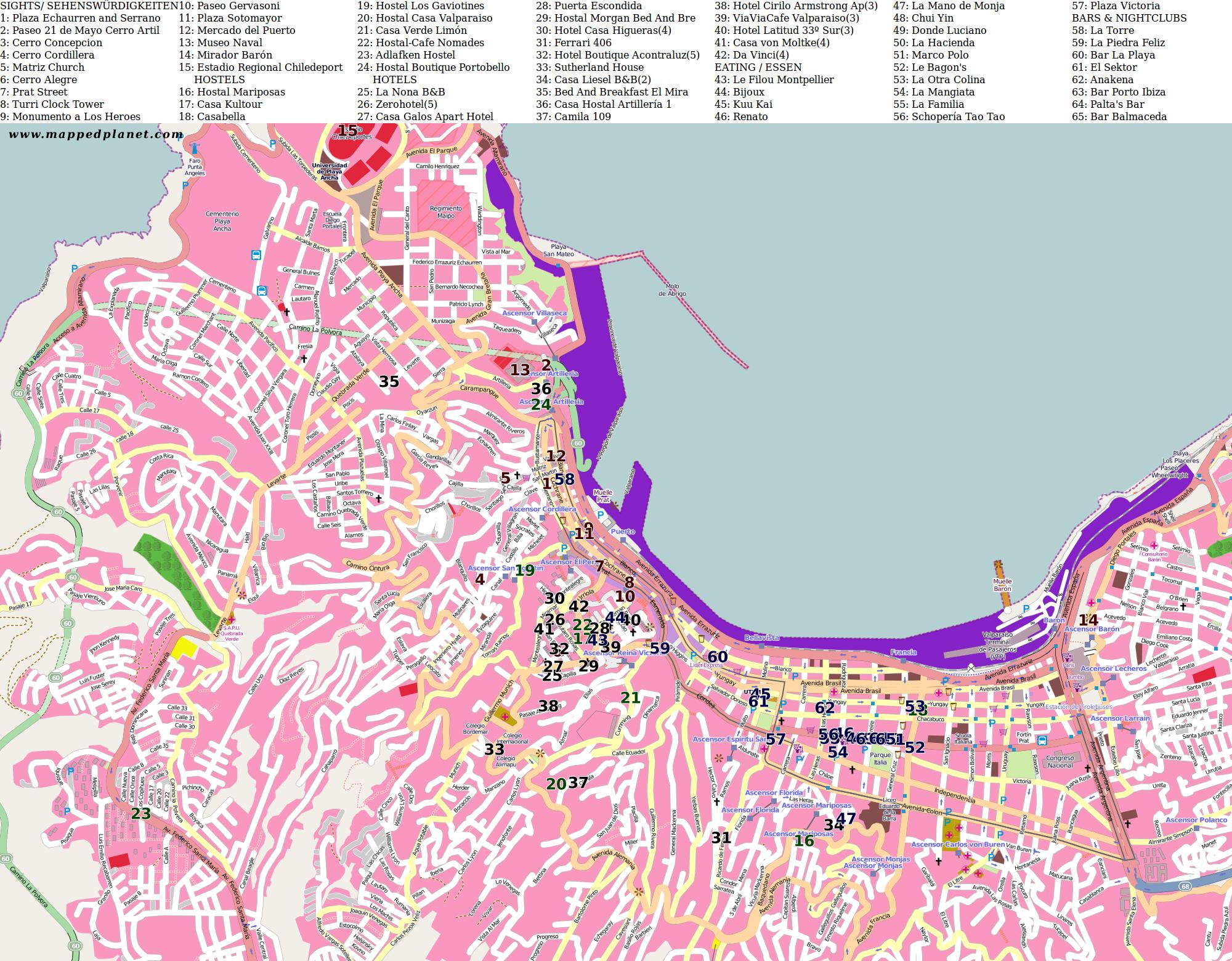 City maps Valparaso