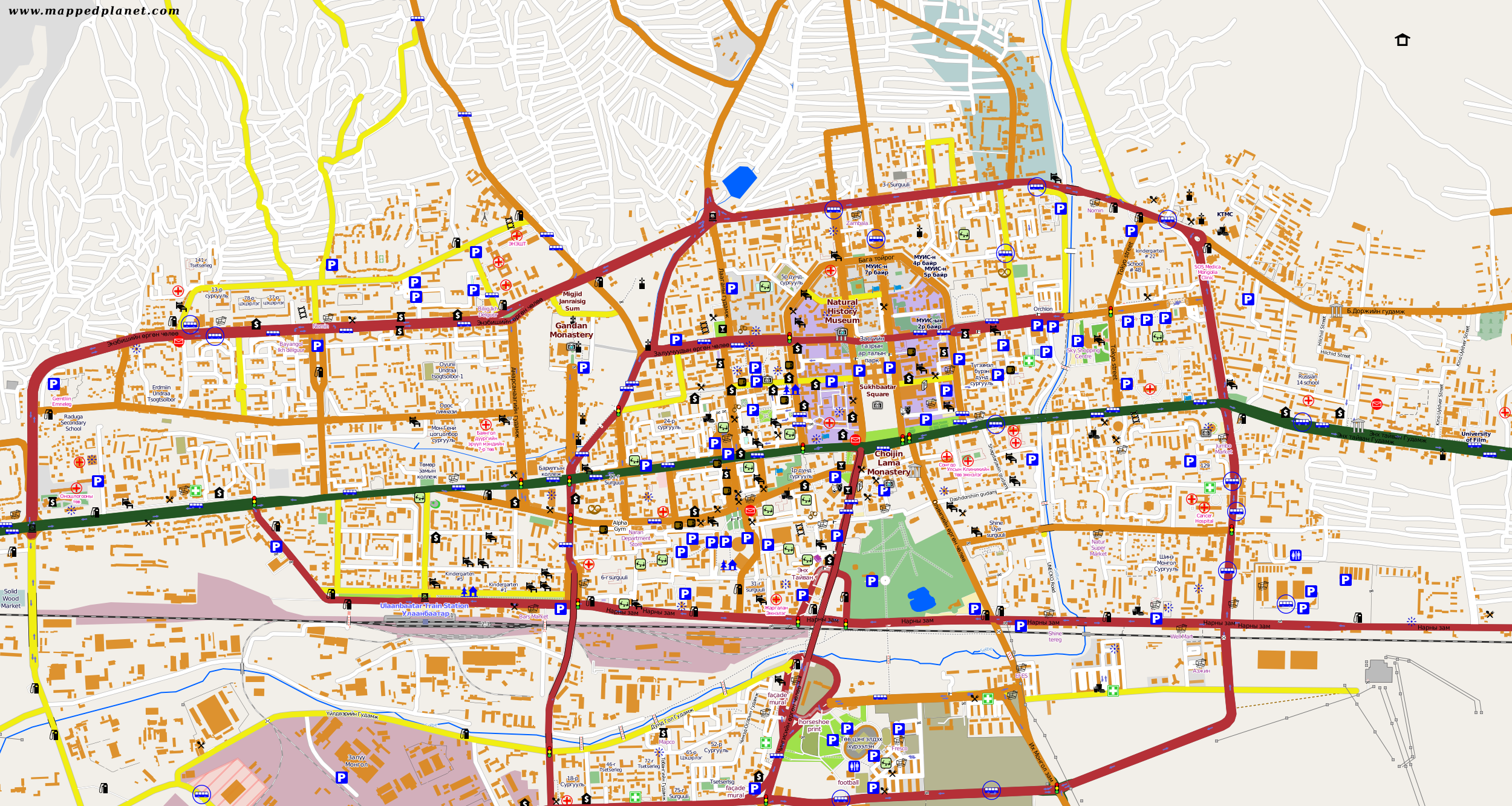 City maps Ulan Bator