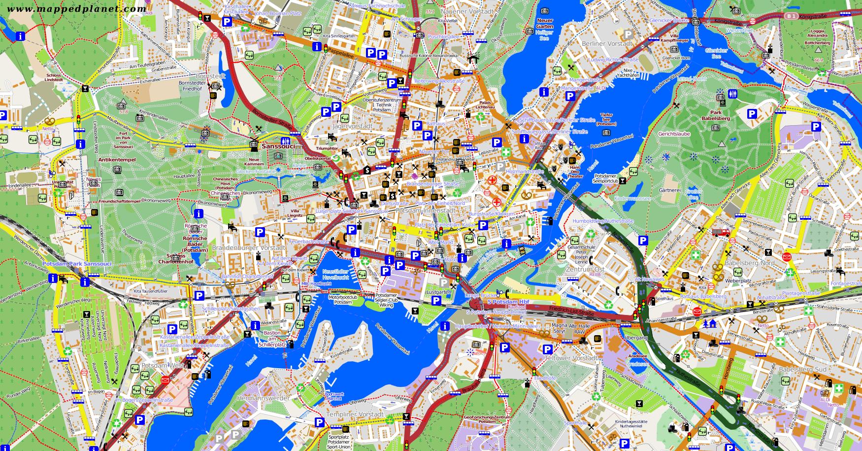 potsdam umgebung karte