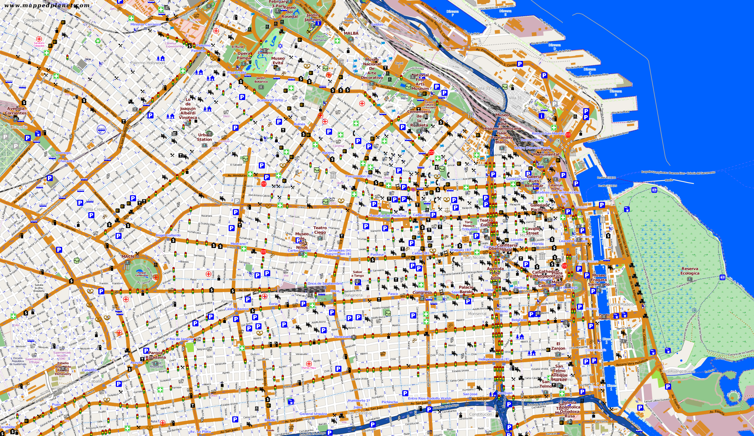 buenos aires karte Karten und Stadtpläne Buenos Aires