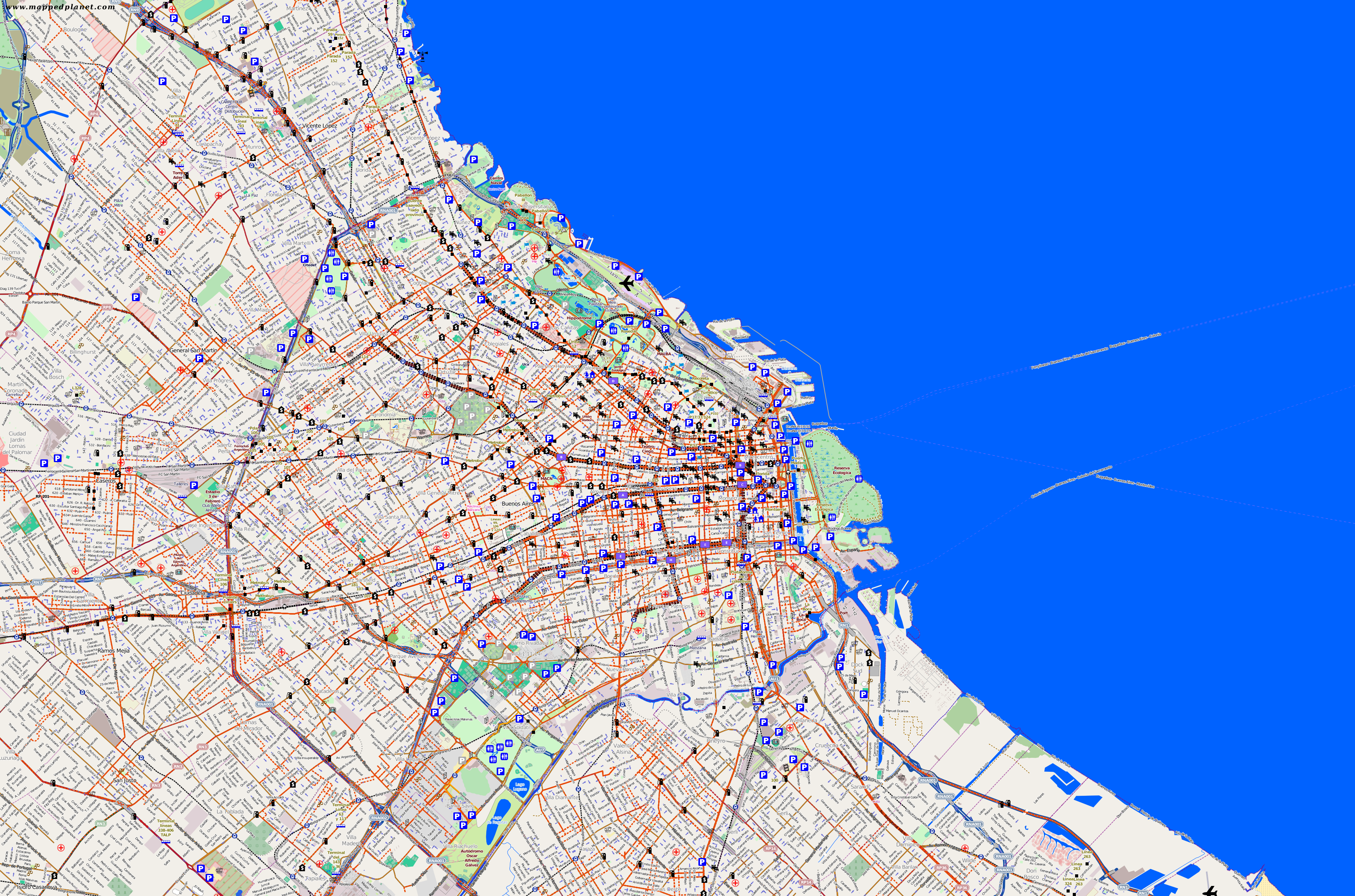 traffic map buenos aires. city maps buenos aires