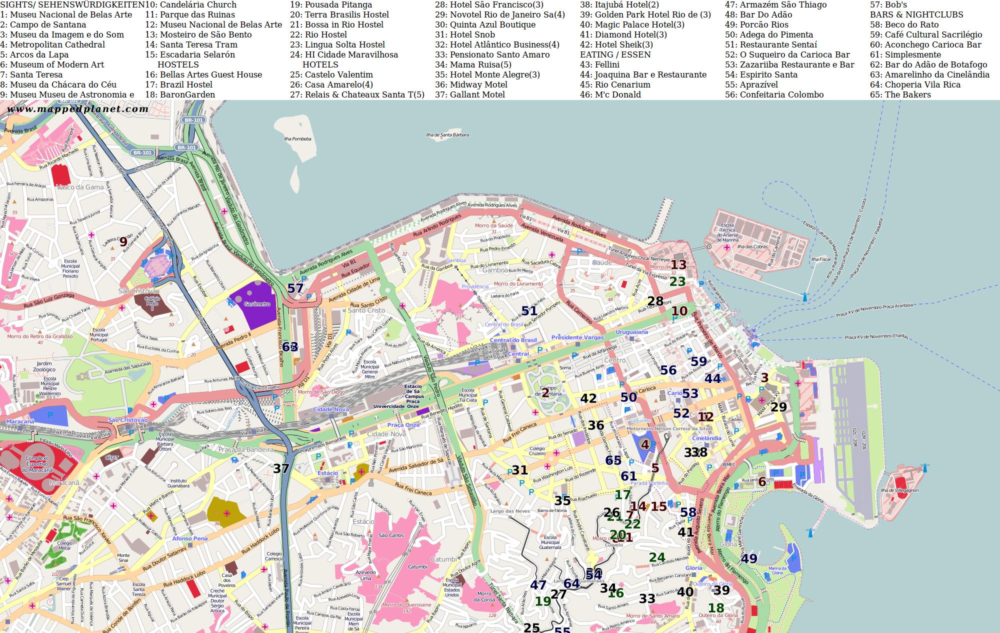 Rio De Janeiro Karte.Karten Und Stadtplane Rio De Janeiro